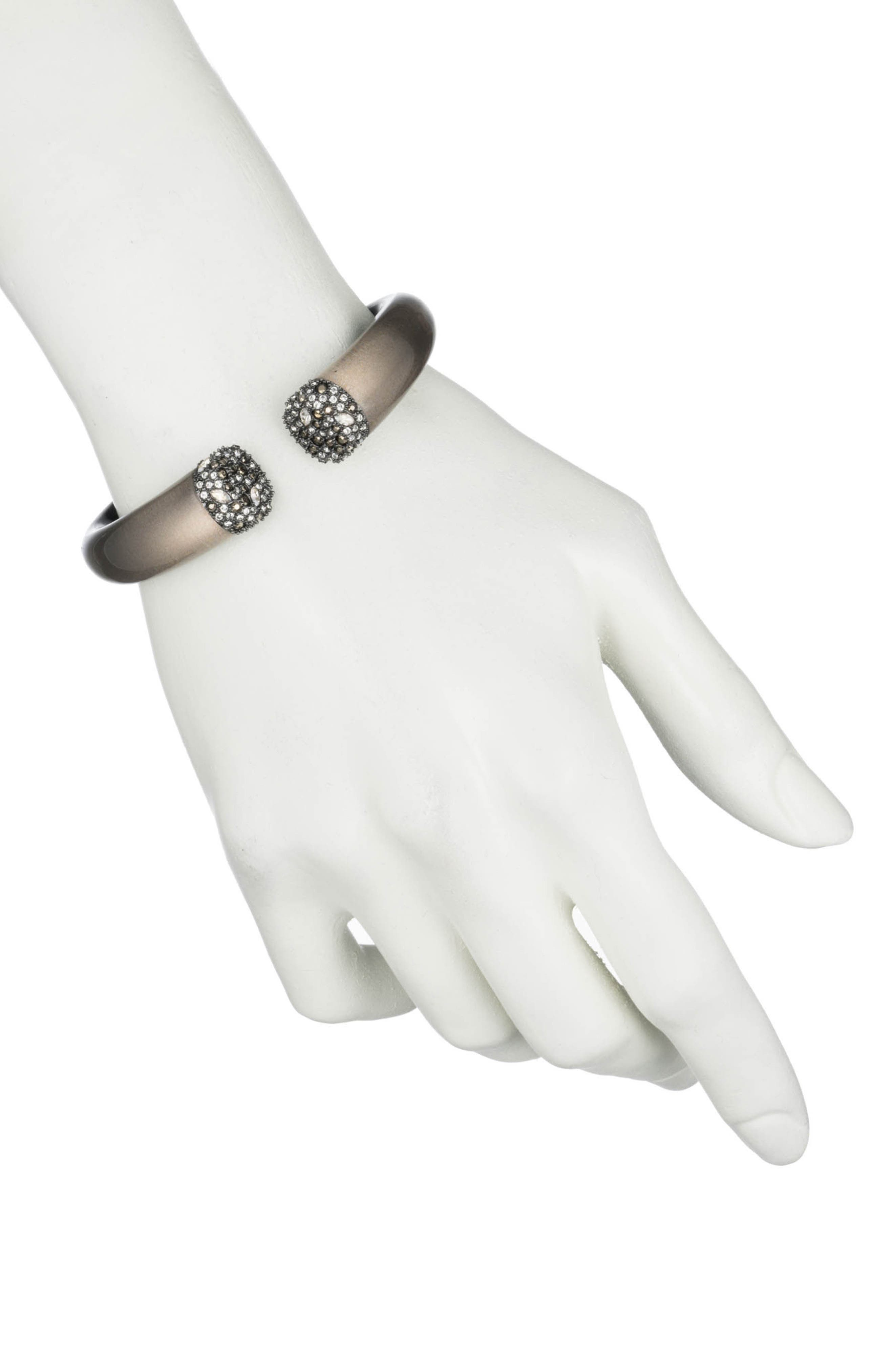 Crystal Accent Hinge Cuff,                             Alternate thumbnail 2, color,                             069