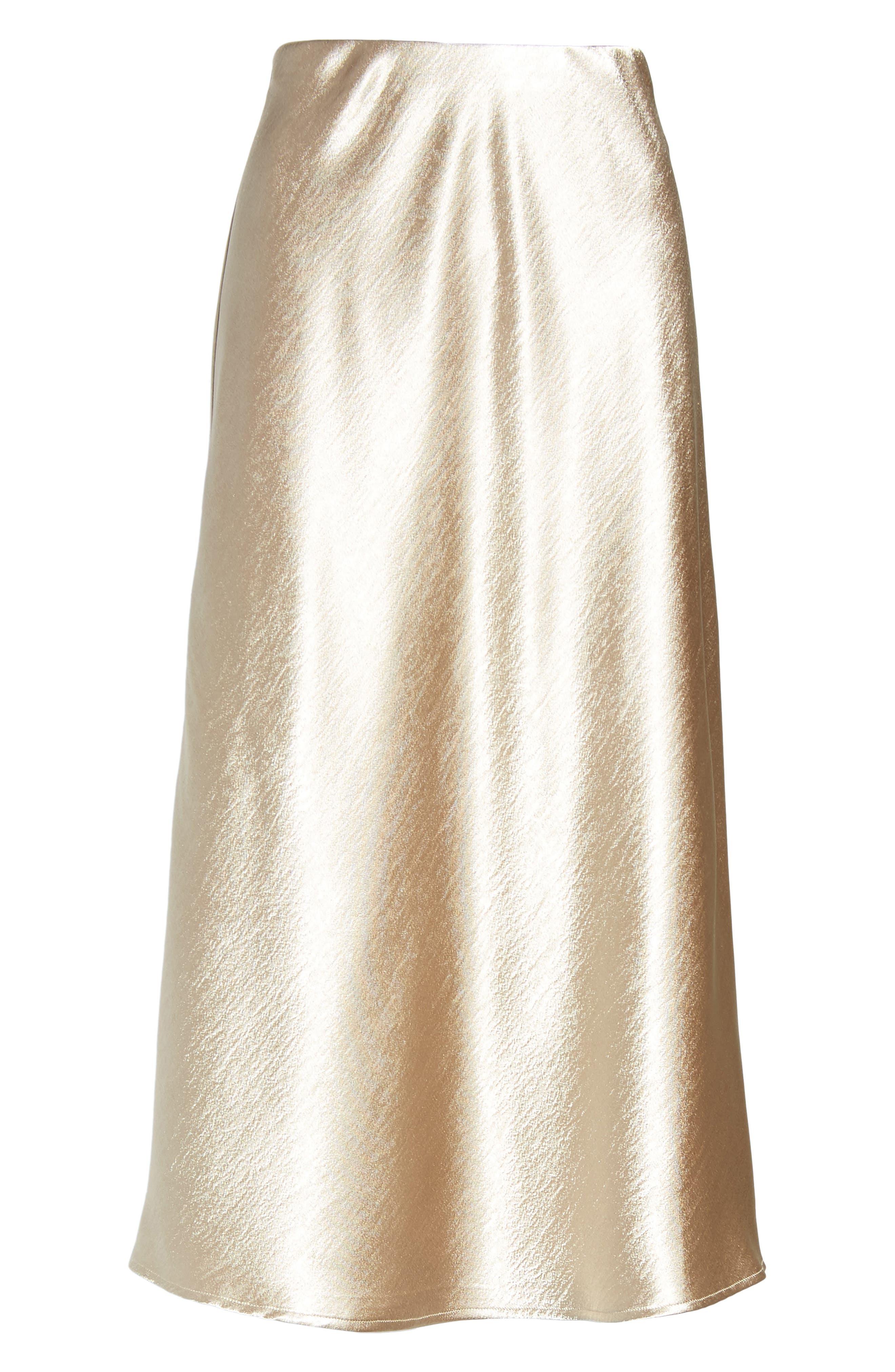 Satin Midi Skirt,                             Alternate thumbnail 12, color,