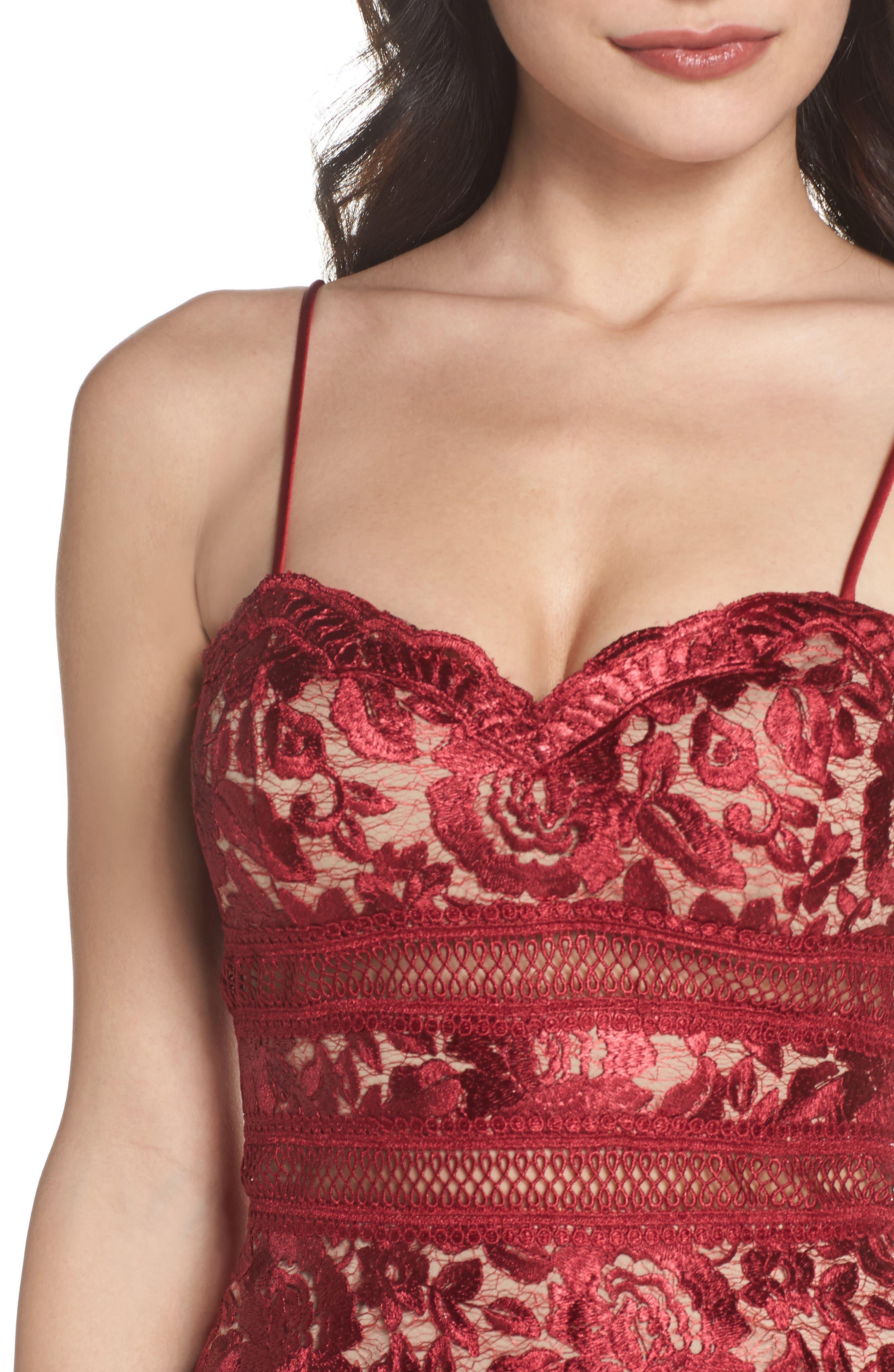 Lace Midi Dress,                             Alternate thumbnail 4, color,                             643