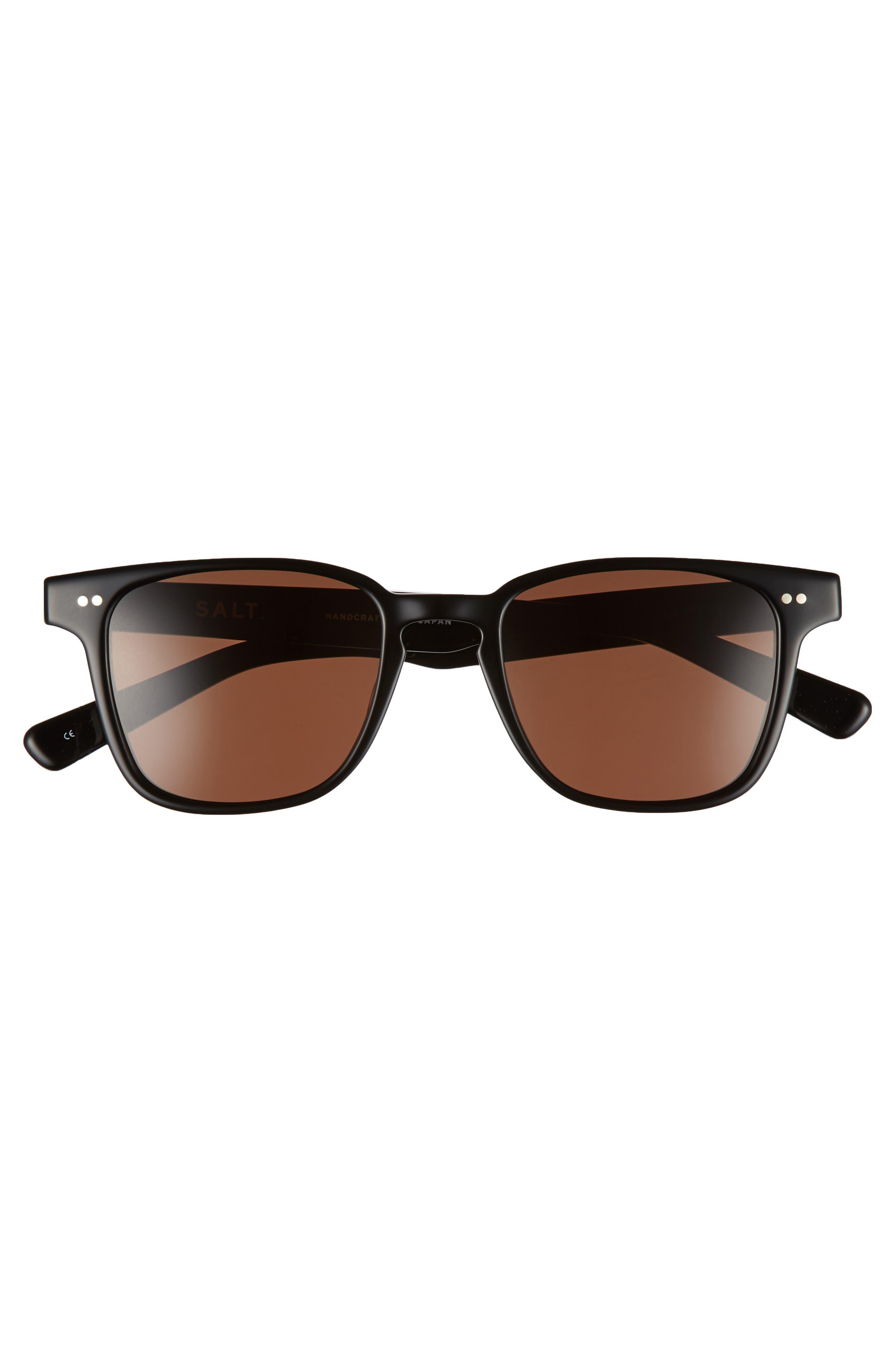 Reiner 51mm Polarized Sunglasses,                             Alternate thumbnail 2, color,                             BLACK