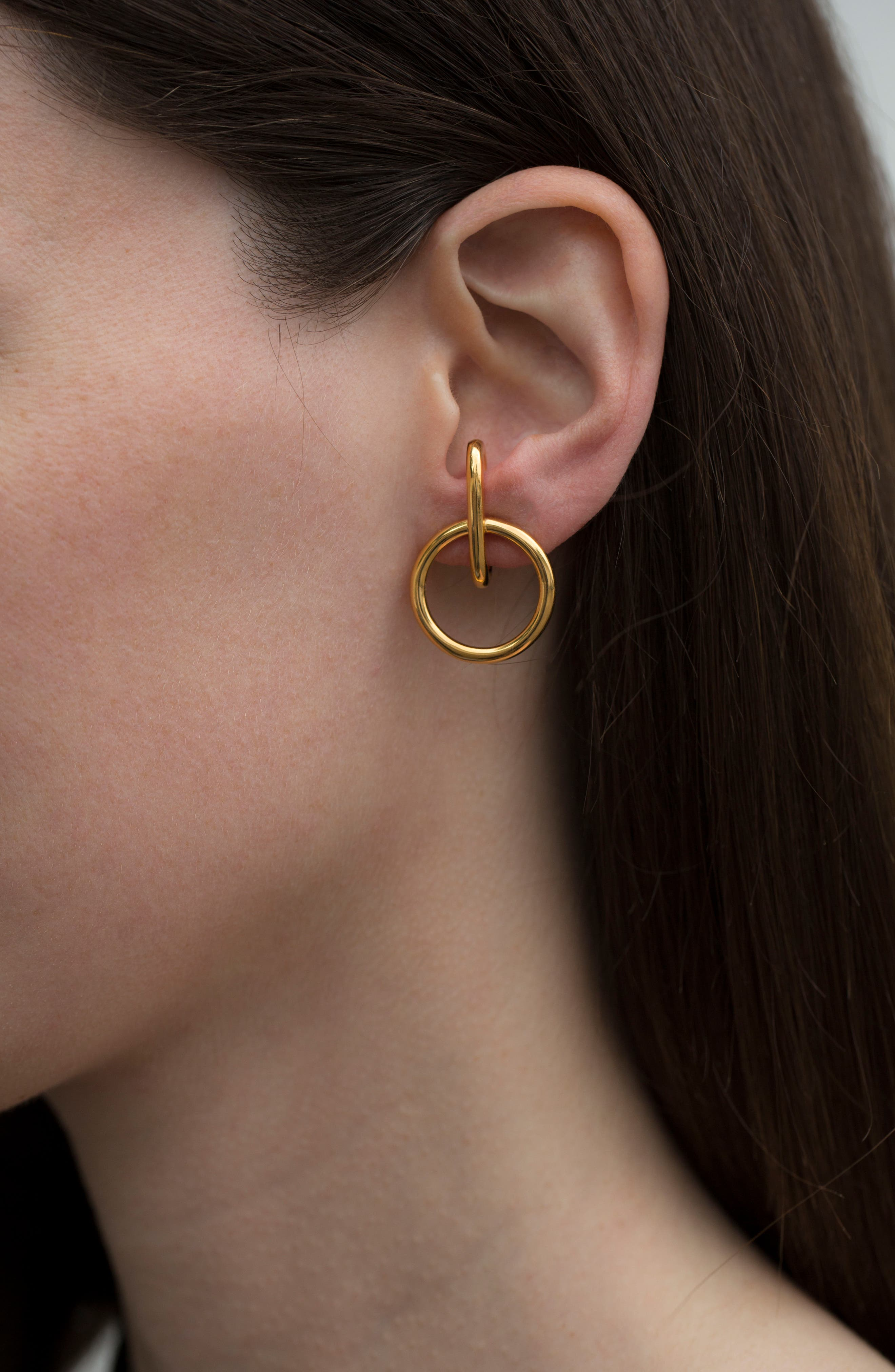 Tiny Isabel Hoop Earrings,                             Main thumbnail 1, color,                             GOLD