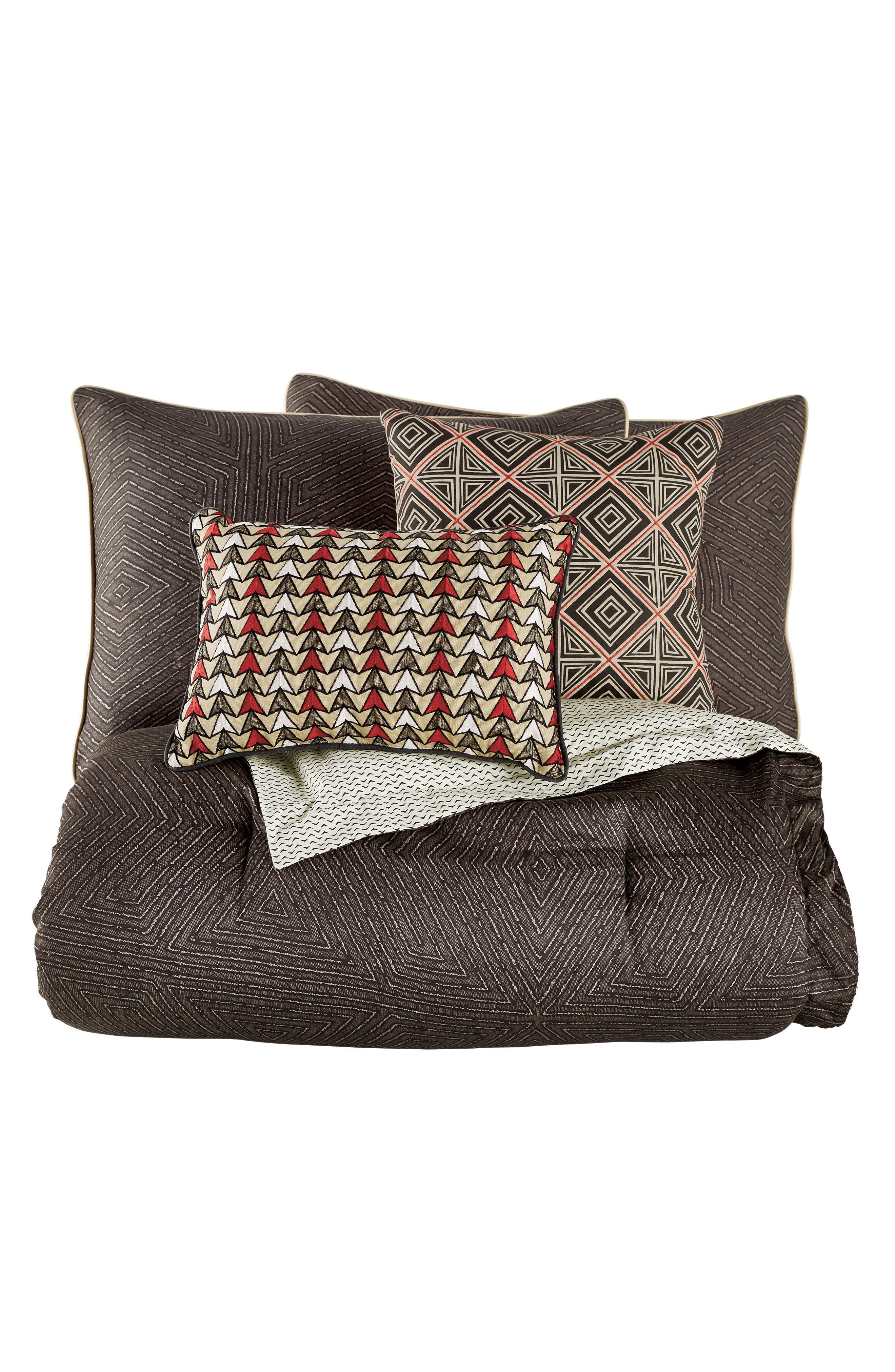 BEDECK,                             Arro Comforter, Sham & Accent Pillow Set,                             Alternate thumbnail 8, color,                             CHARCOAL