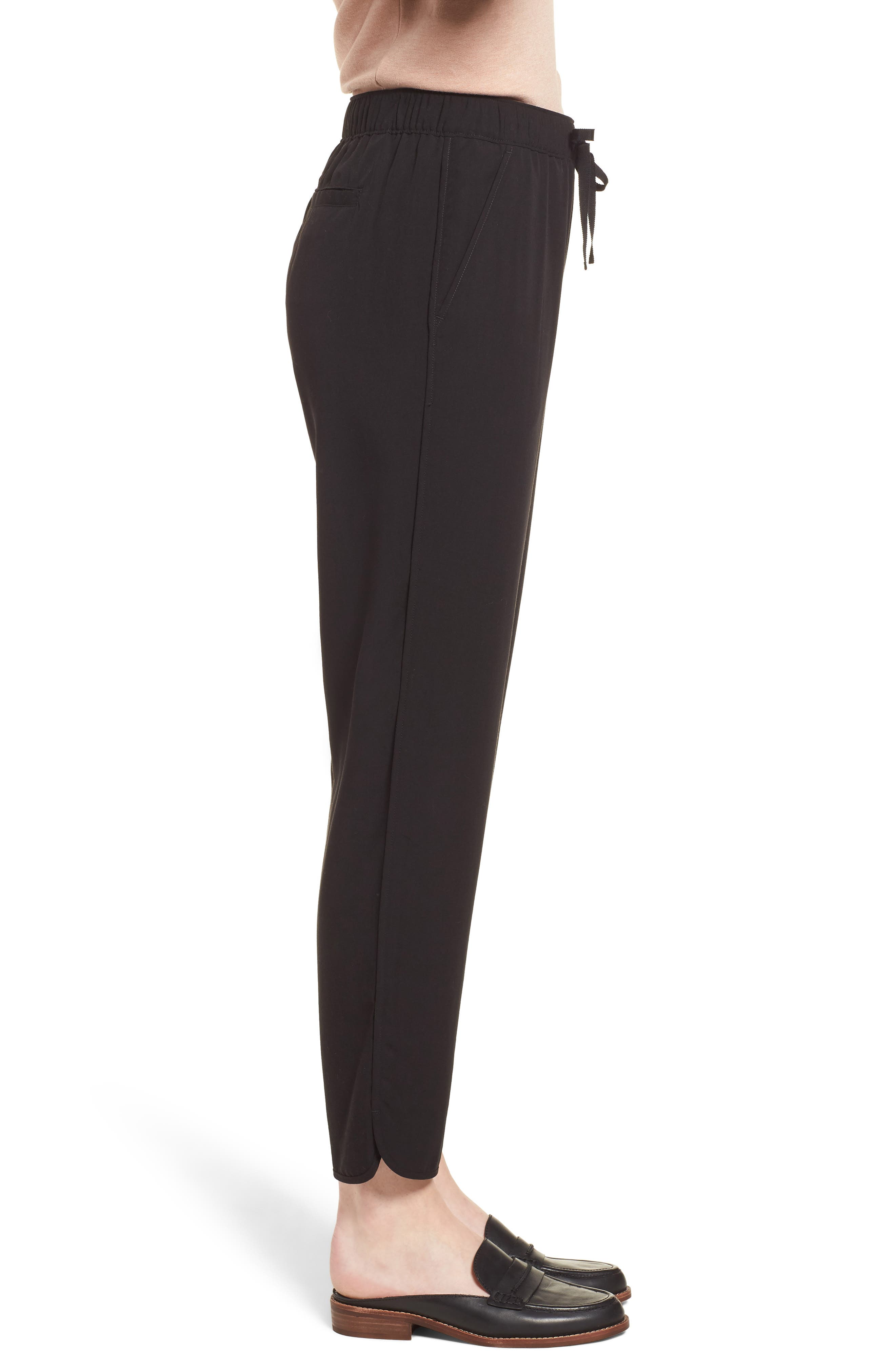 MADEWELL,                             Drawstring Track Trousers,                             Alternate thumbnail 3, color,                             001