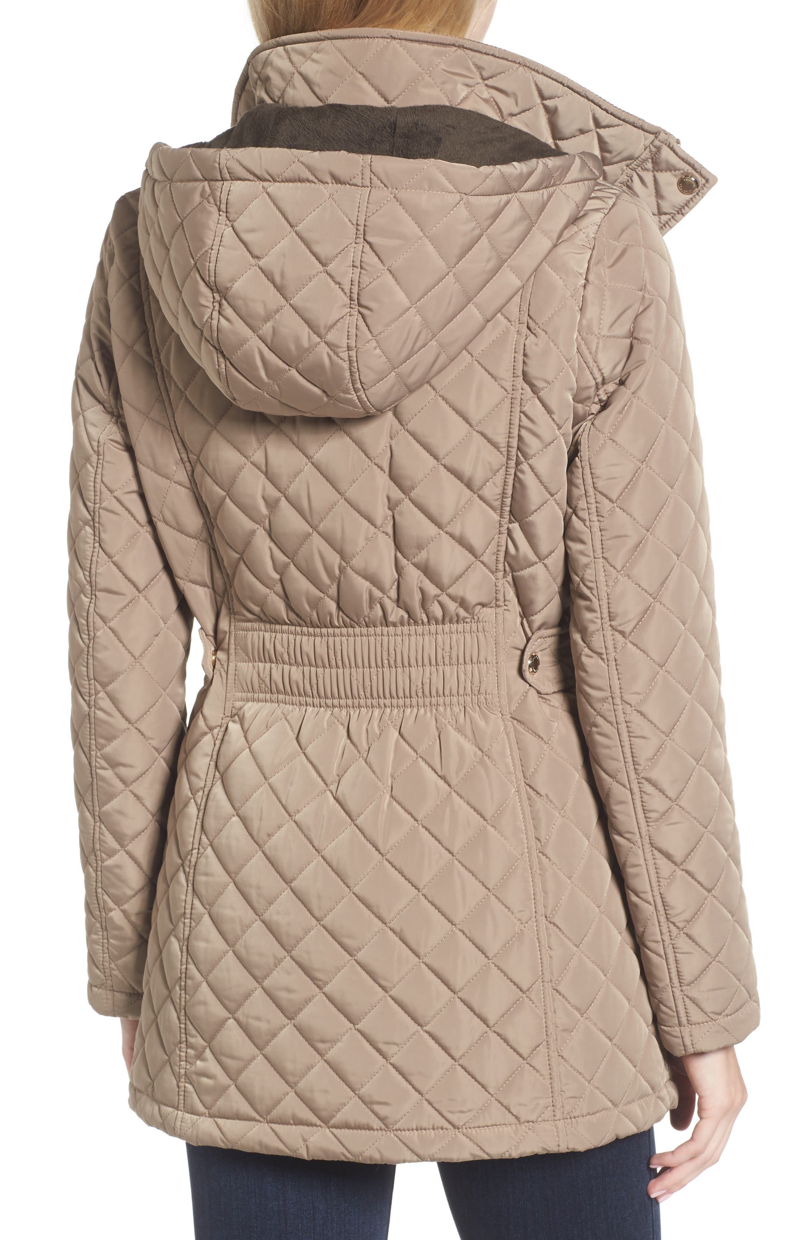 Hooded Quilted Jacket,                             Alternate thumbnail 16, color,