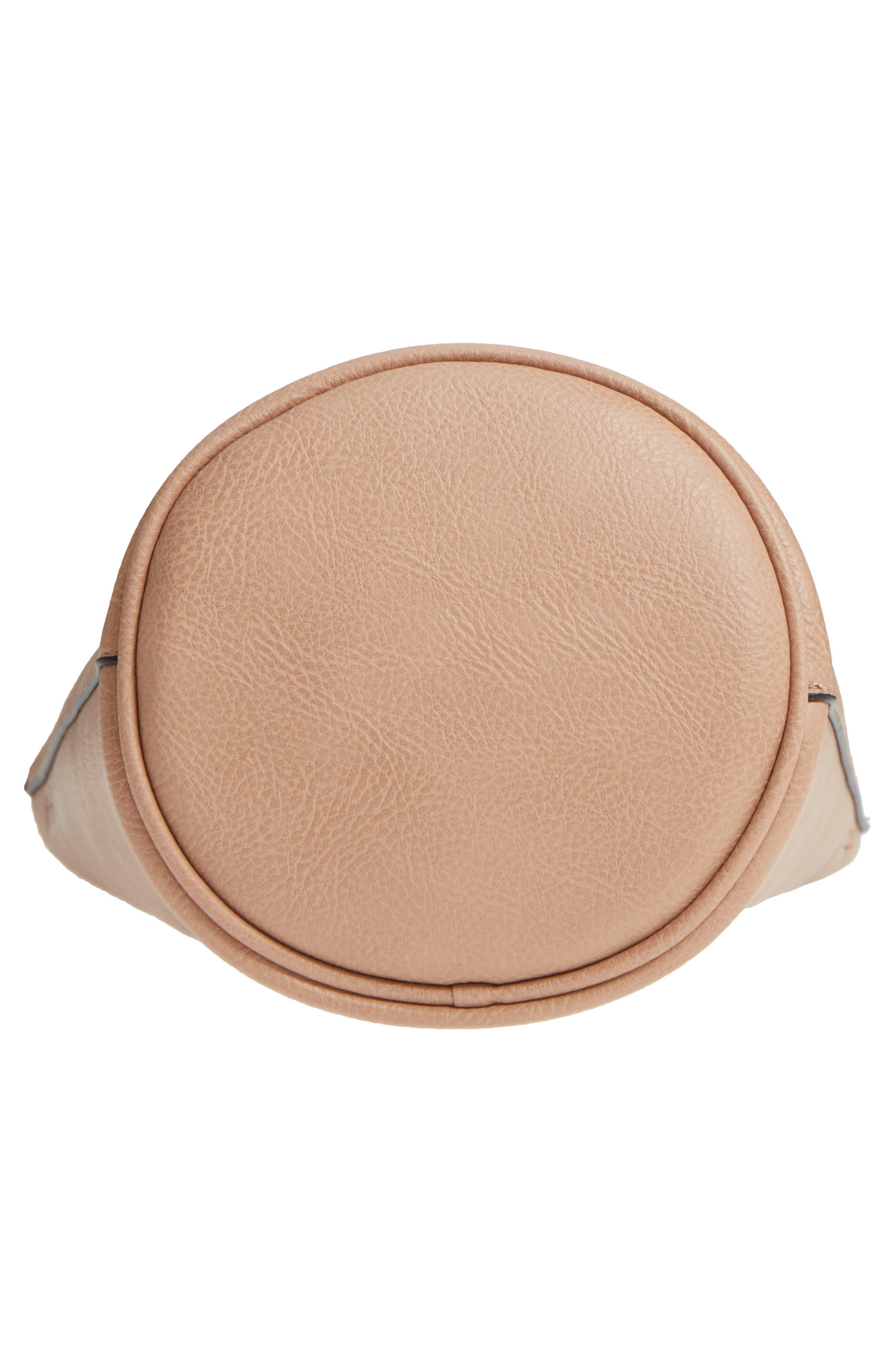 Mali + Lili Ilia Vegan Leather Ring Handle Bucket Bag,                             Alternate thumbnail 17, color,
