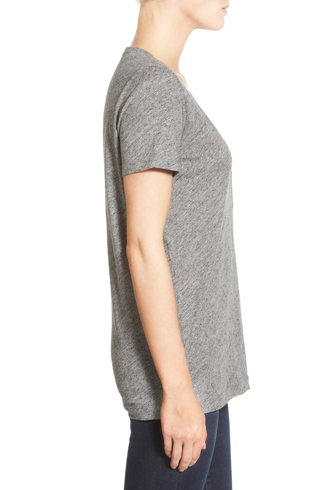 Whisper Cotton V-Neck Pocket Tee,                             Alternate thumbnail 215, color,