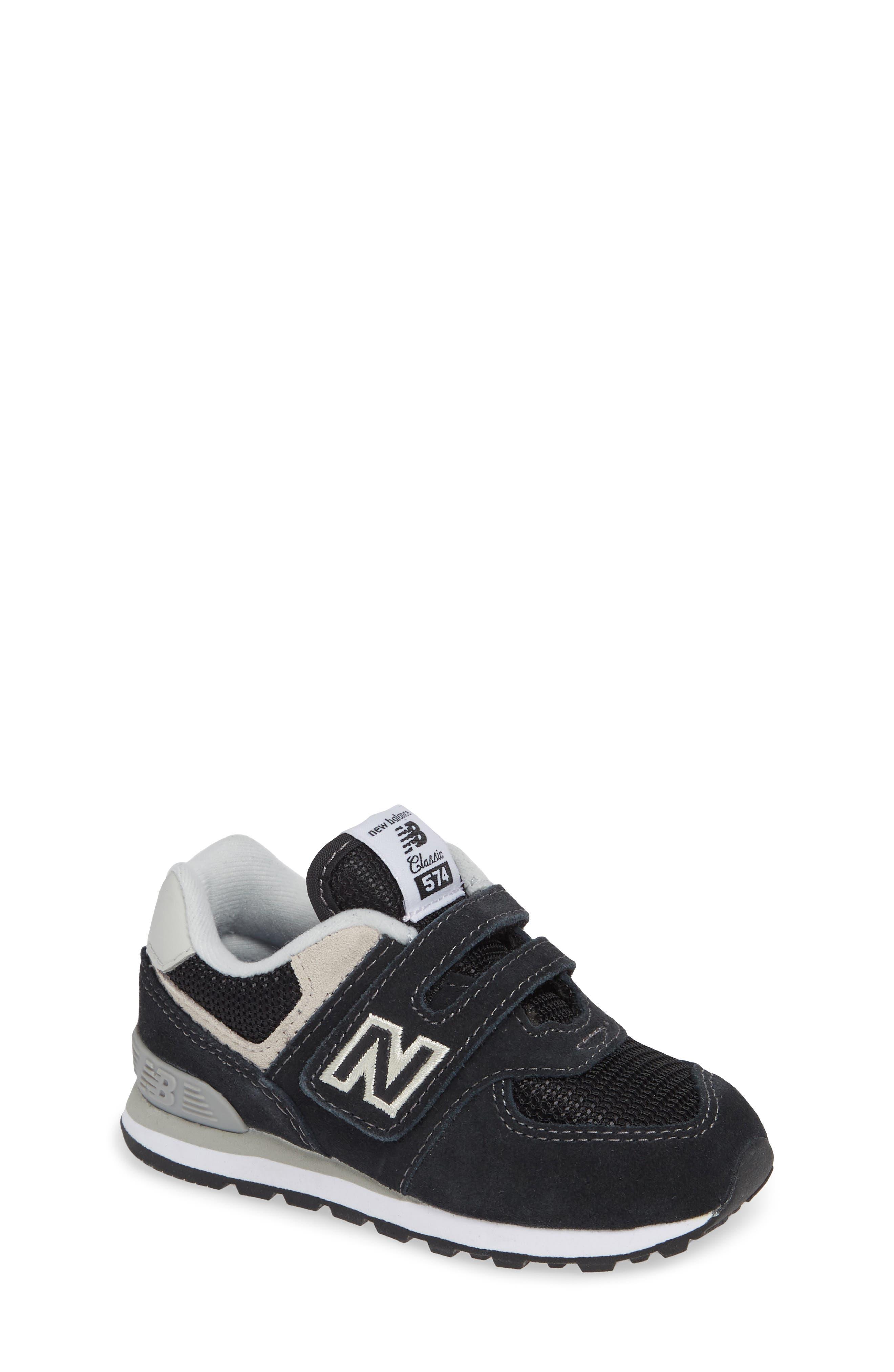 '574 Core' Sneaker,                         Main,                         color, BLACK/ GREY