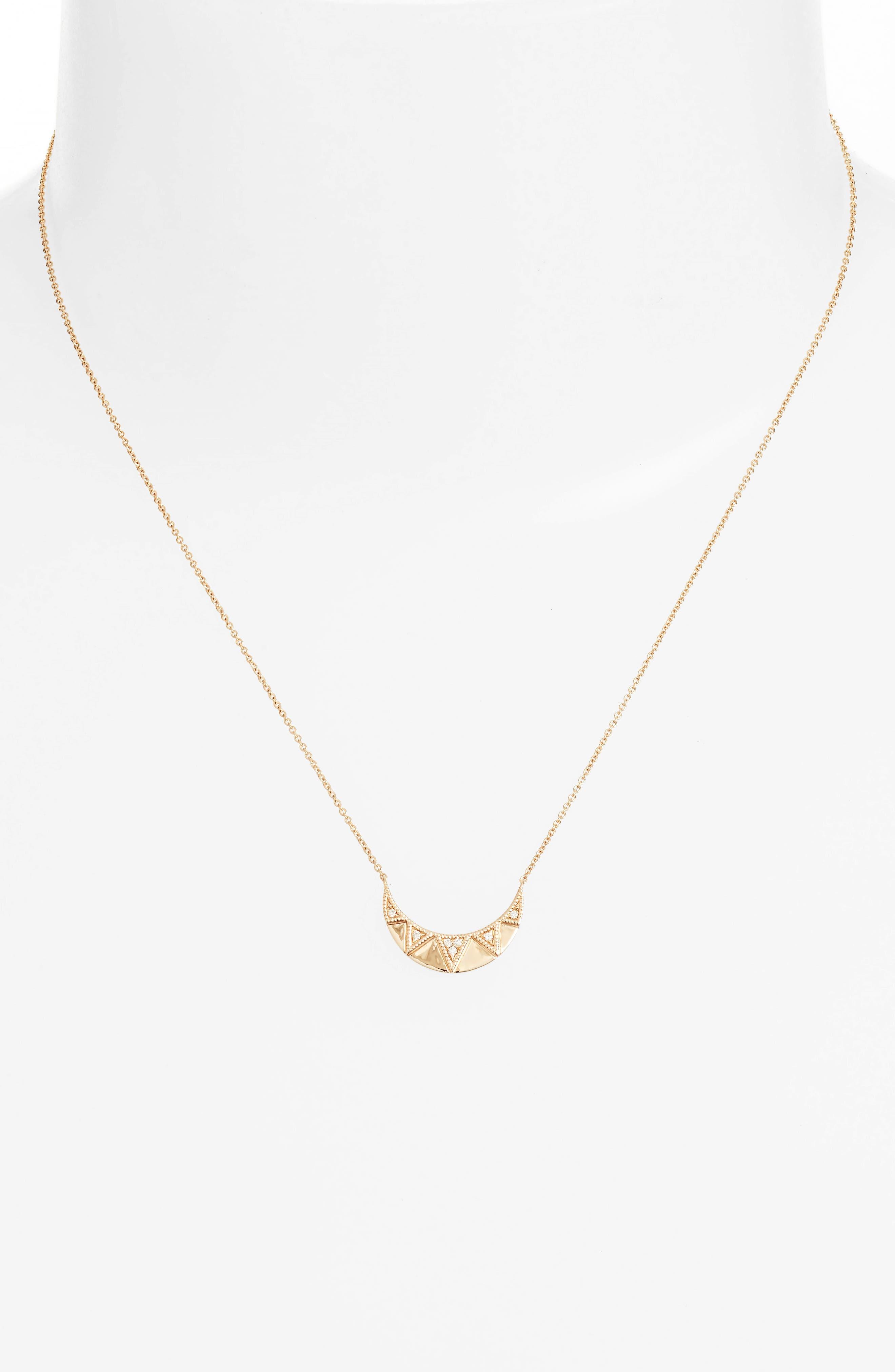 Jeanie Ann Diamond Pendant Necklace,                             Alternate thumbnail 2, color,                             710