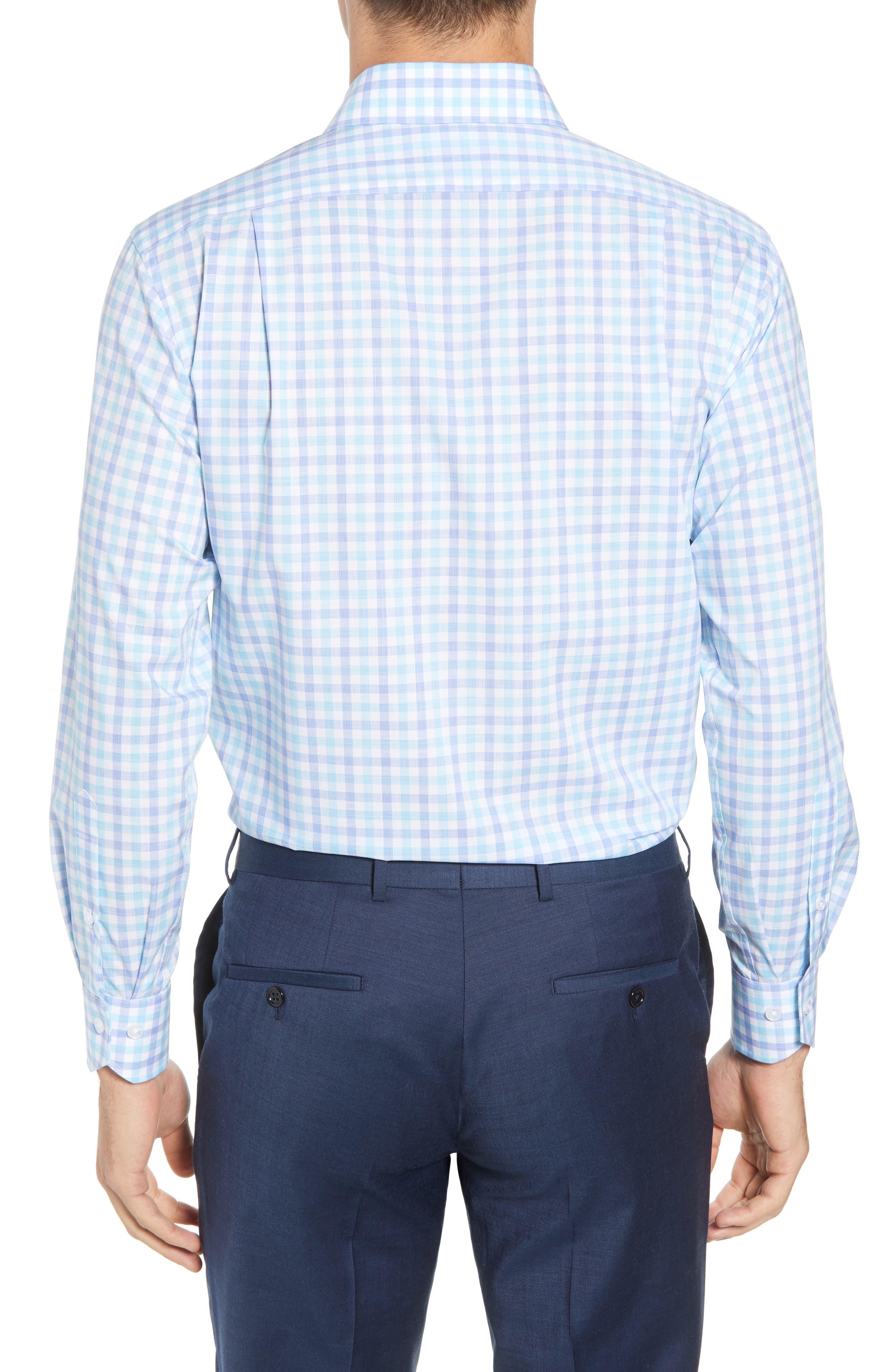 Trim Fit Check Dress Shirt,                             Alternate thumbnail 3, color,                             439