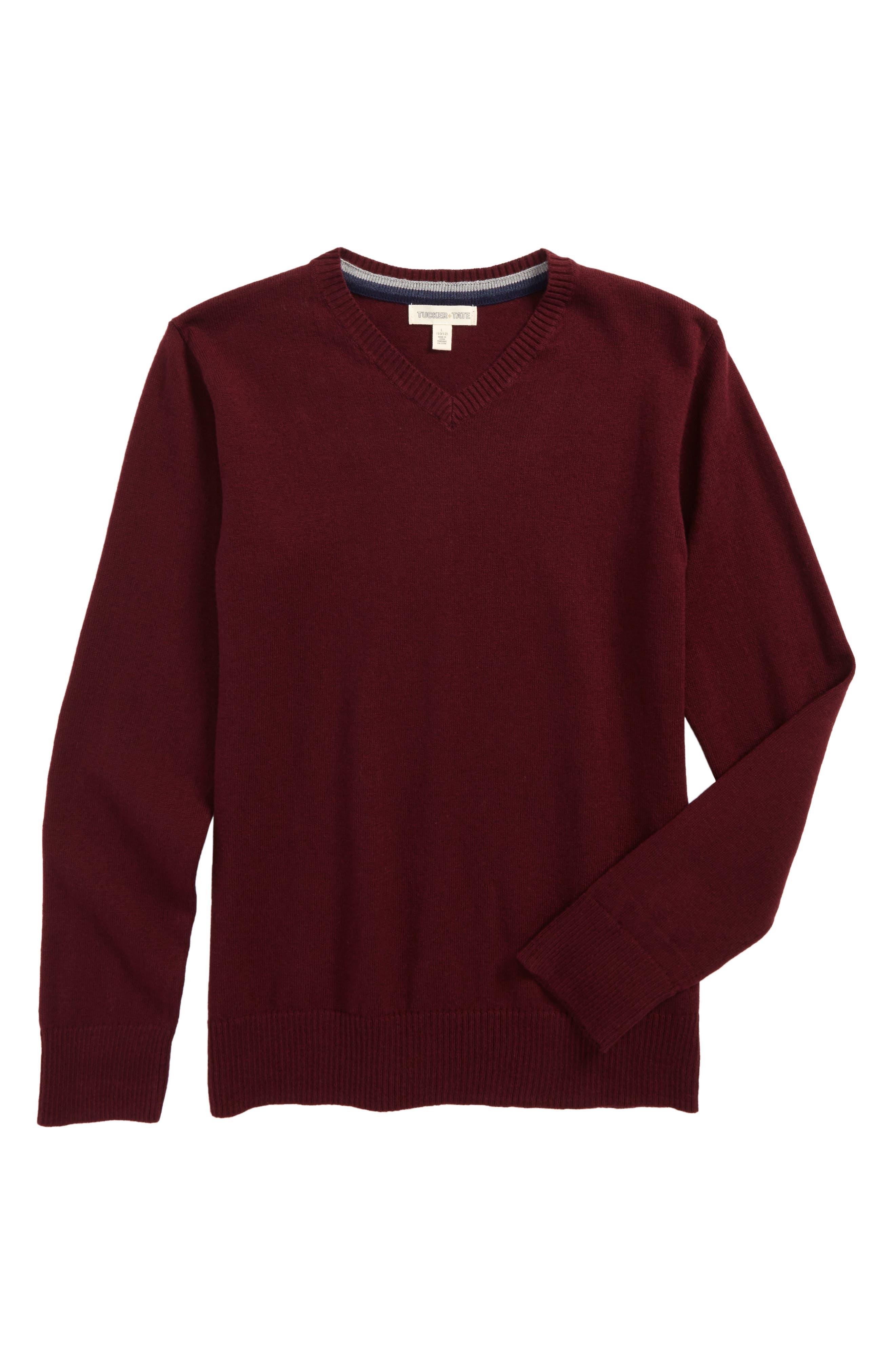 V-Neck Sweater,                             Main thumbnail 3, color,