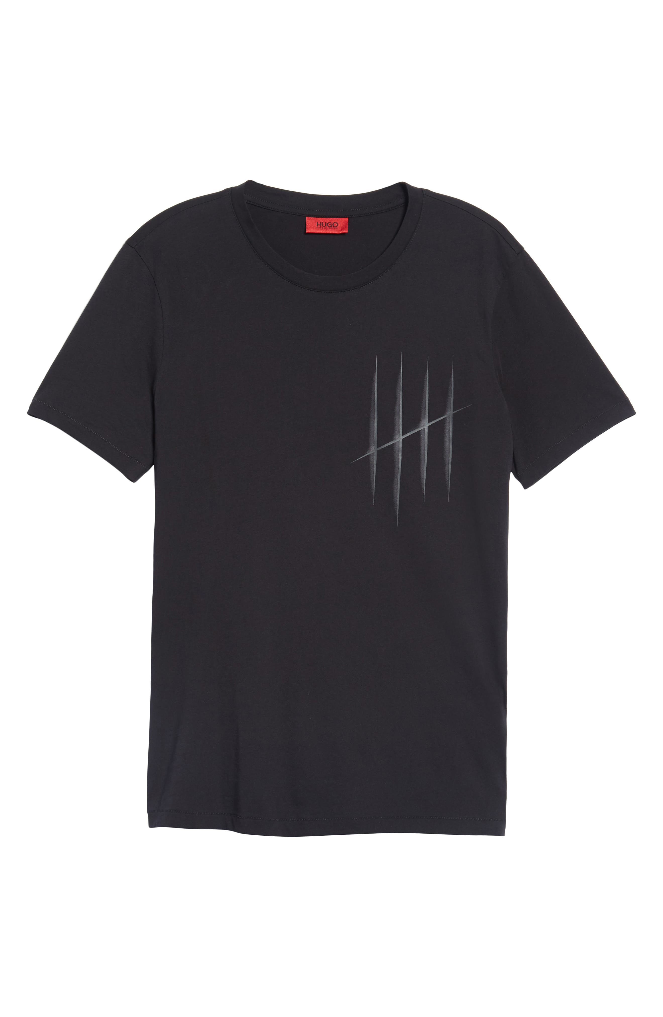Hugo Boss Drison Hashmark Graphic T-Shirt,                             Alternate thumbnail 6, color,                             001