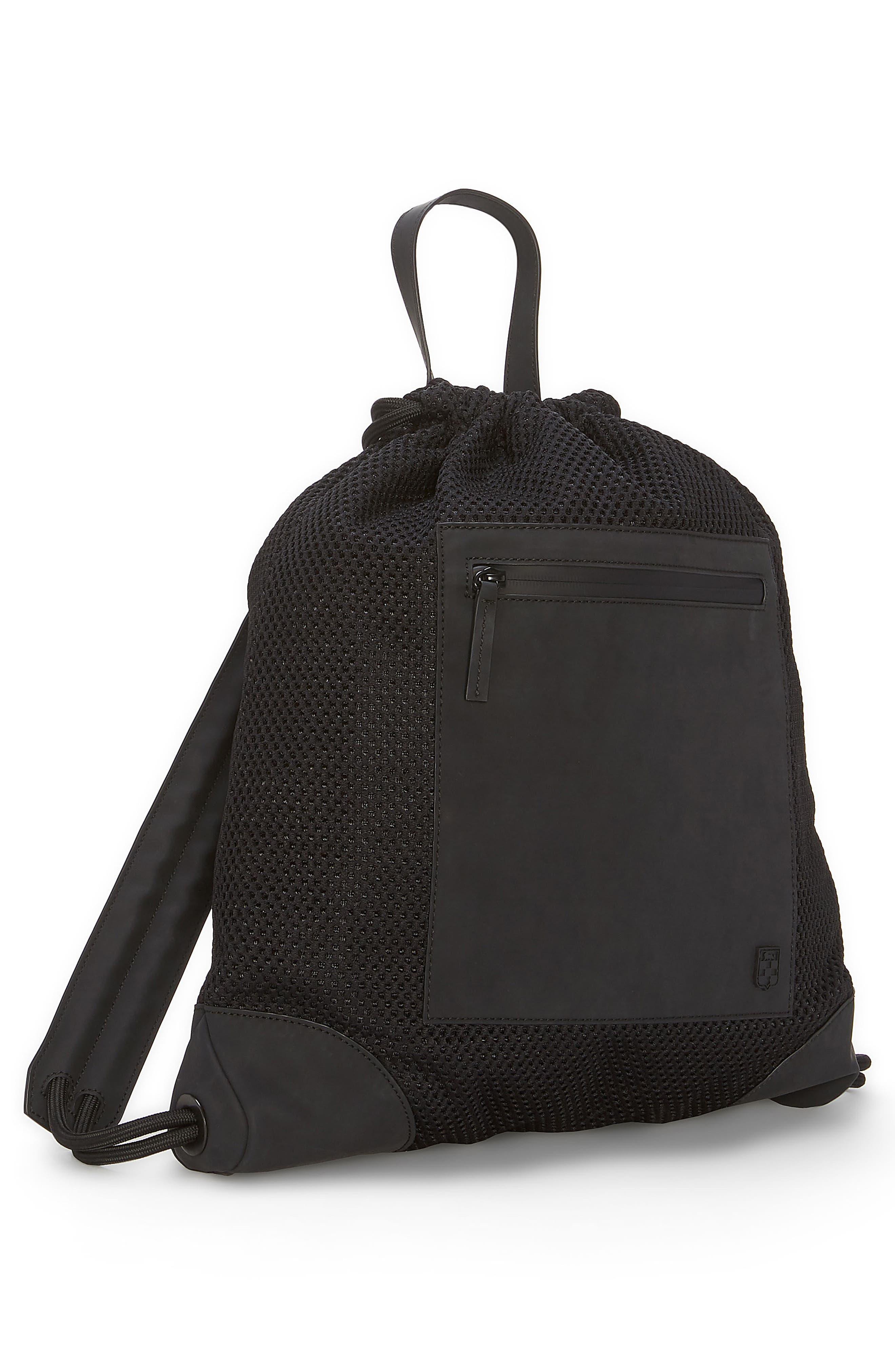 Urban Mesh Backpack,                             Alternate thumbnail 4, color,                             BLACK
