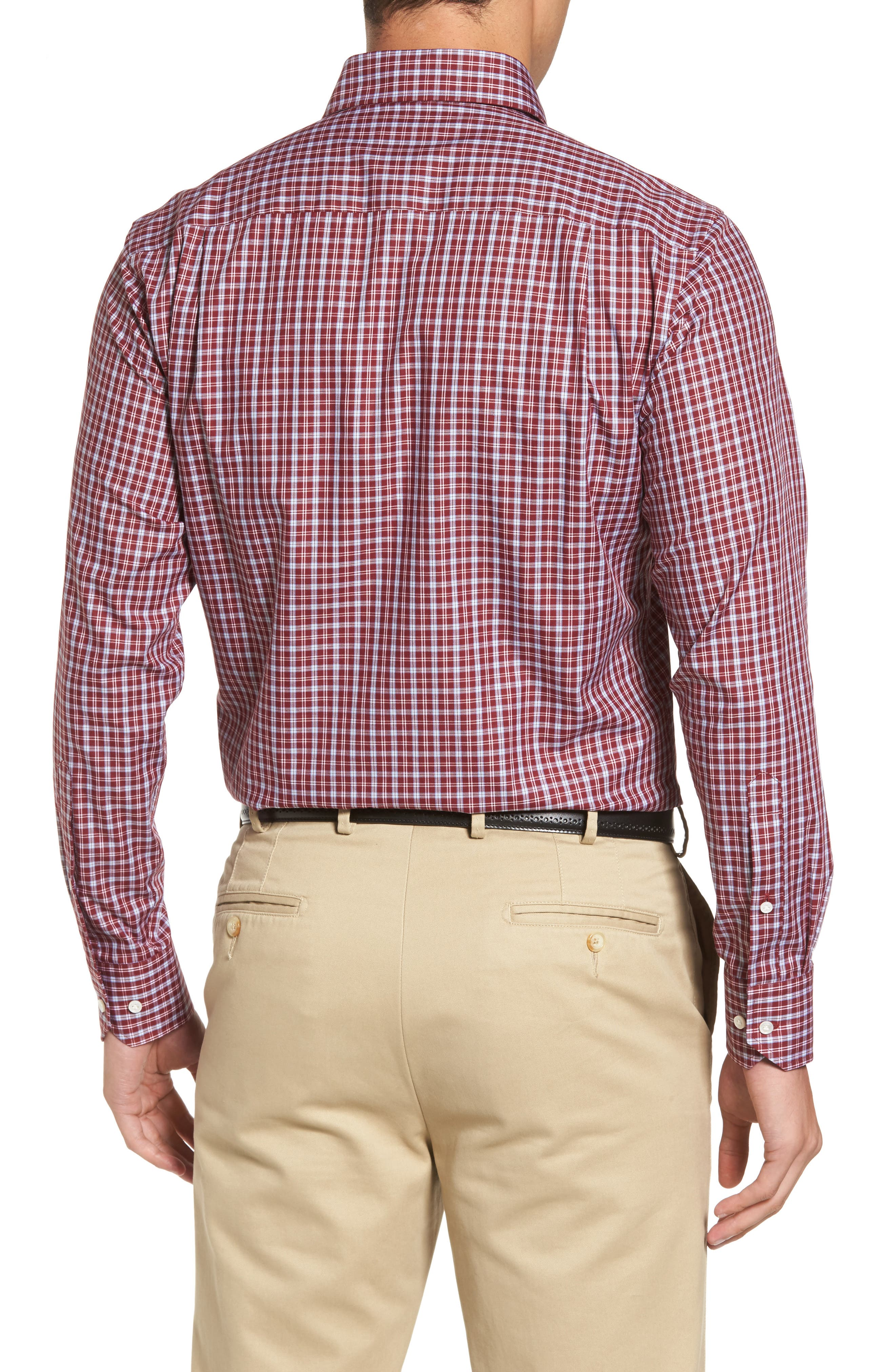 Peter Millar Isle Check Regular Fit Sport Shirt,                             Alternate thumbnail 2, color,                             930