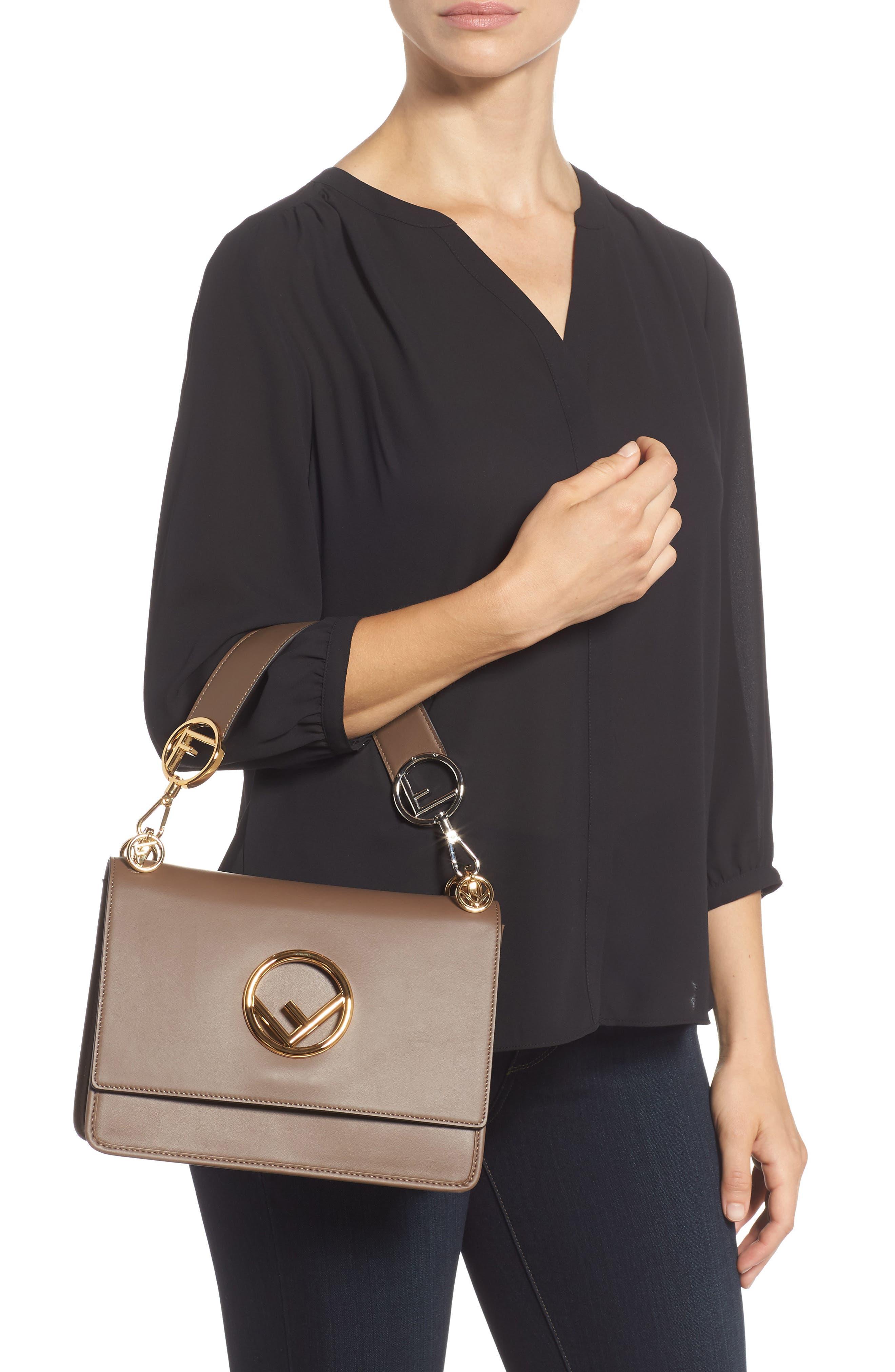 Kan I Calfskin Leather Shoulder Bag,                             Alternate thumbnail 2, color,                             MAYA/ ORO SOFT