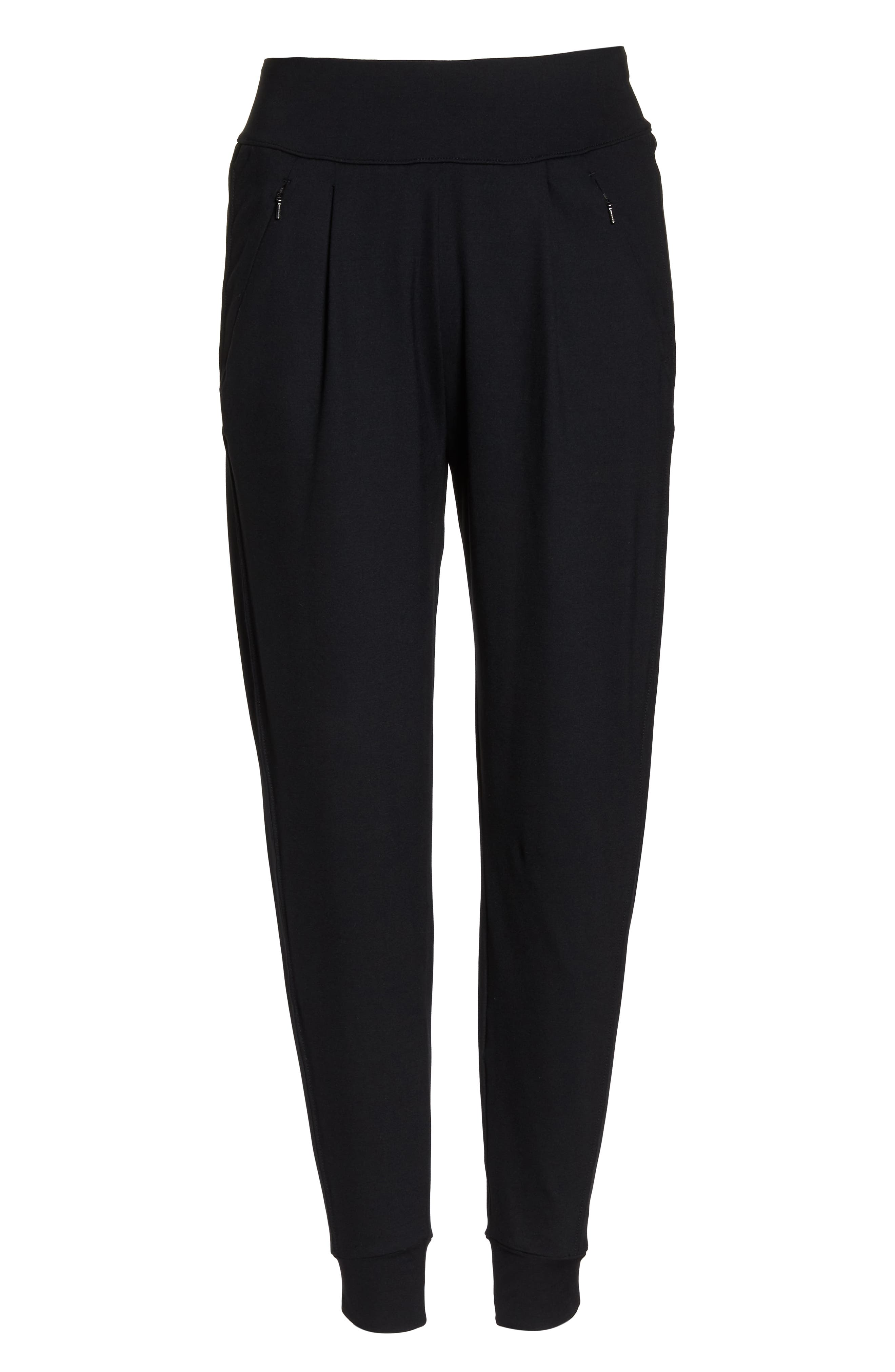 Taylor Slim Recycled Knit Jogger Pants,                             Alternate thumbnail 7, color,                             BLACK