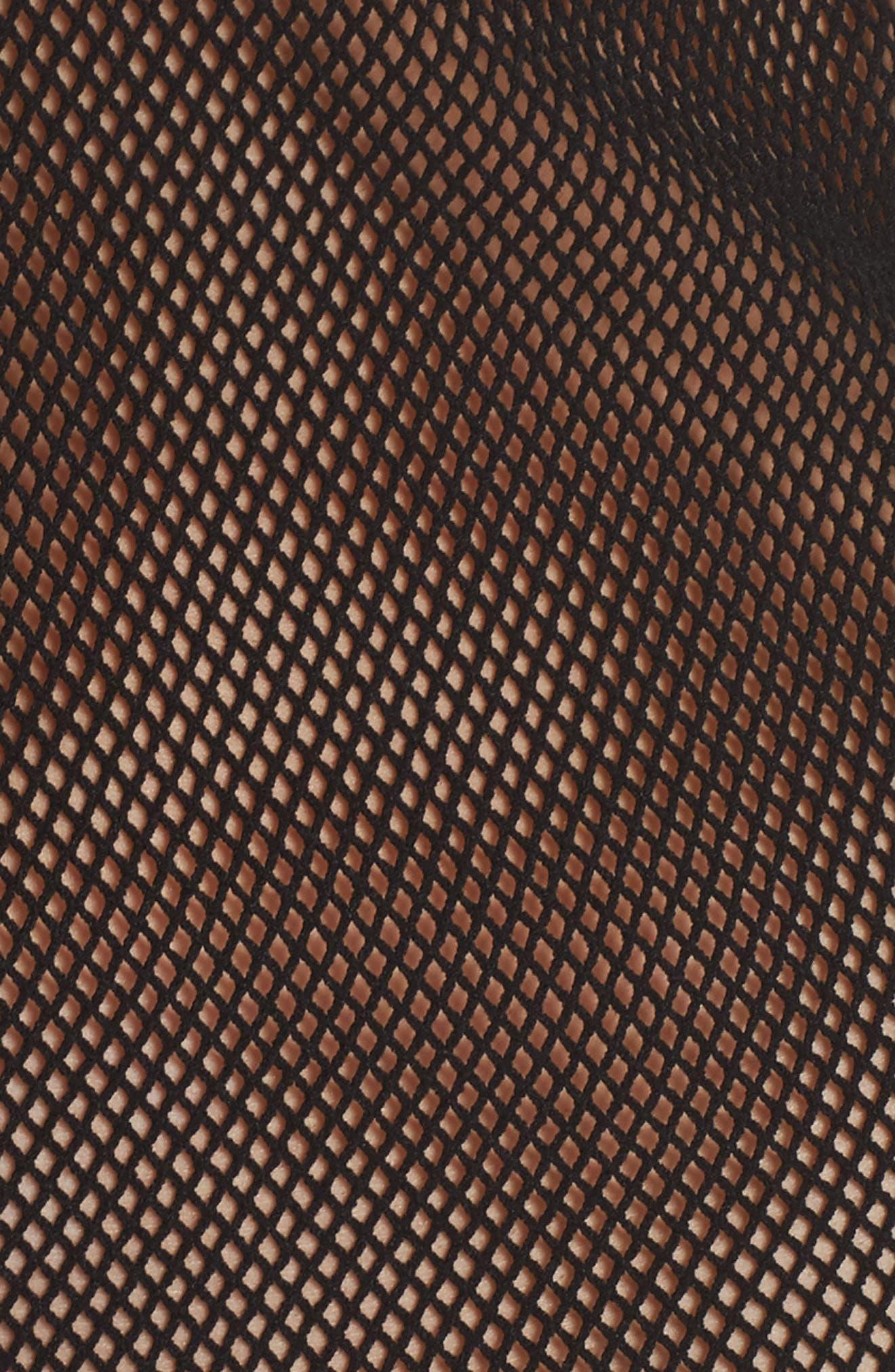 Fabulous Fishnet Muscle Tee,                             Alternate thumbnail 5, color,                             001