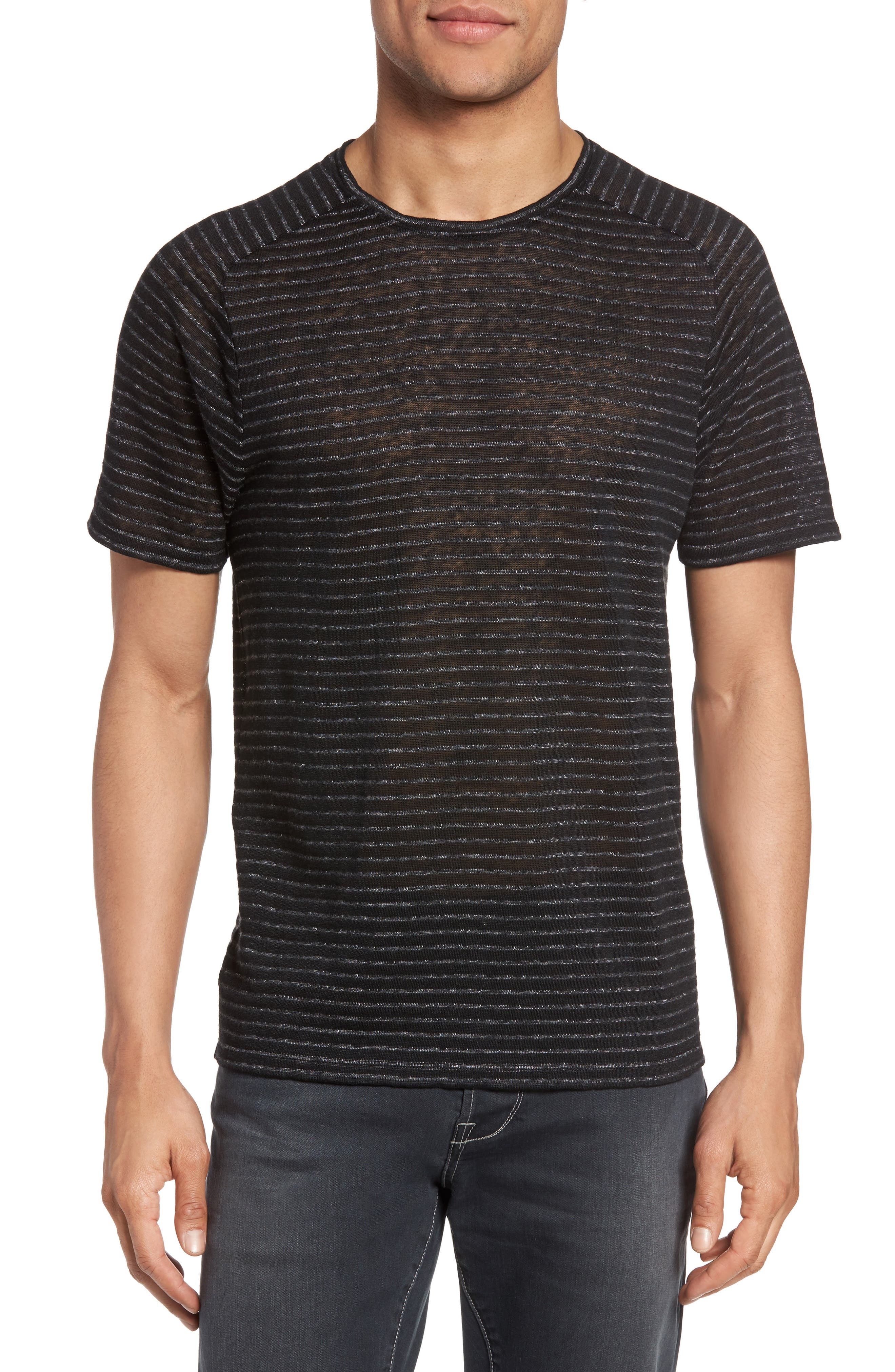Plated Stripe T-Shirt,                         Main,                         color, 001