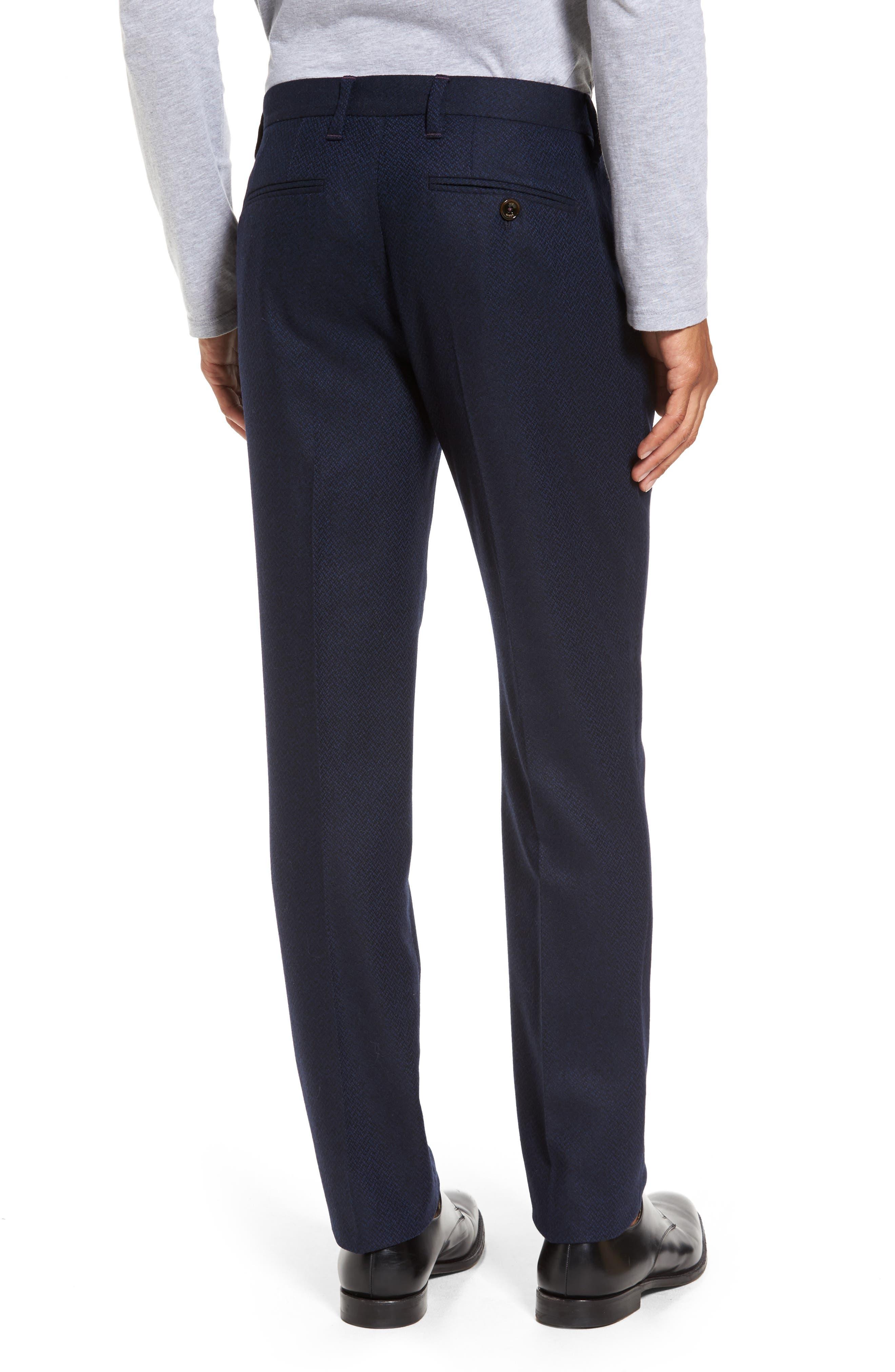 Glentro Semi Plain Wool Blend Trousers,                             Alternate thumbnail 2, color,                             410