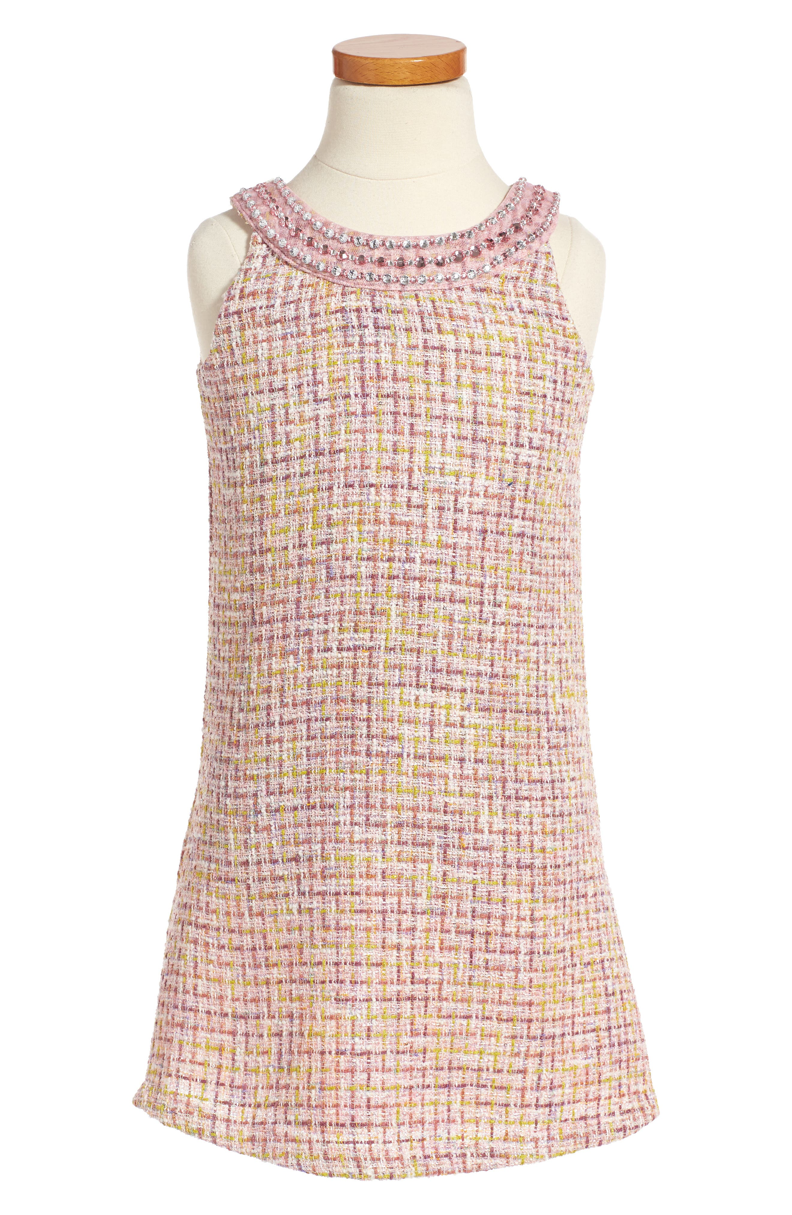 Ringer A-Line Dress,                             Main thumbnail 1, color,                             650