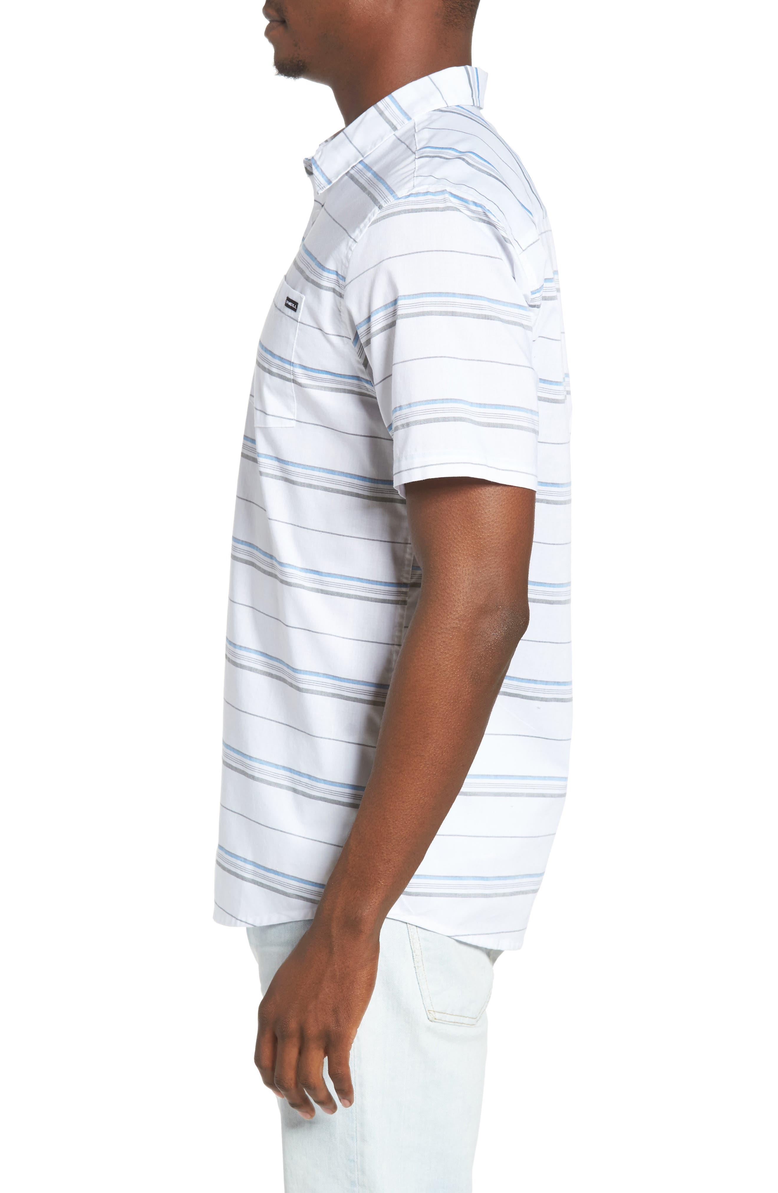 Striped Woven Shirt,                             Alternate thumbnail 9, color,