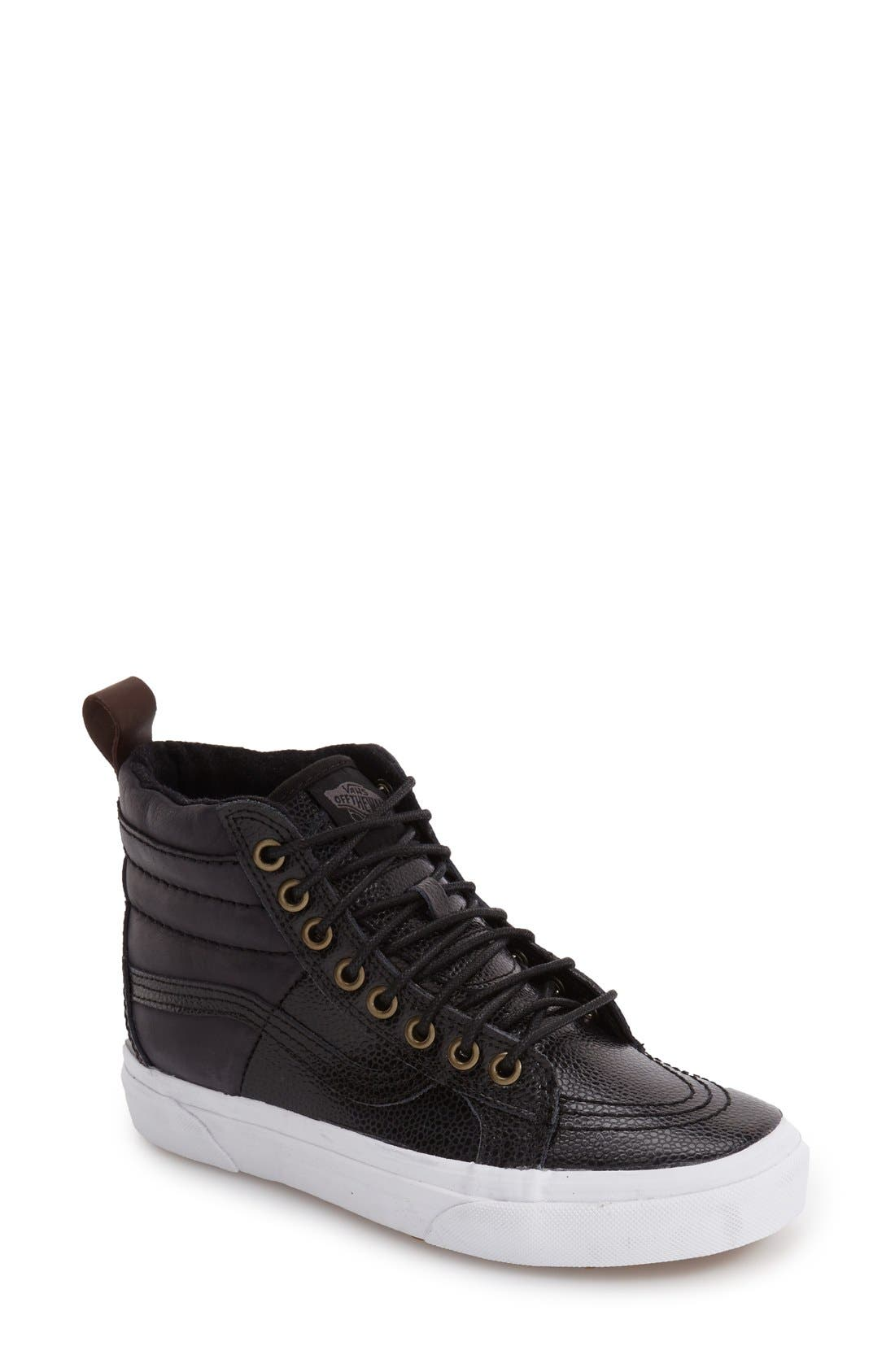 'Hana Beaman - Sk8-Hi 46 MTE' Water Resistant High Top Sneaker,                             Main thumbnail 1, color,                             001