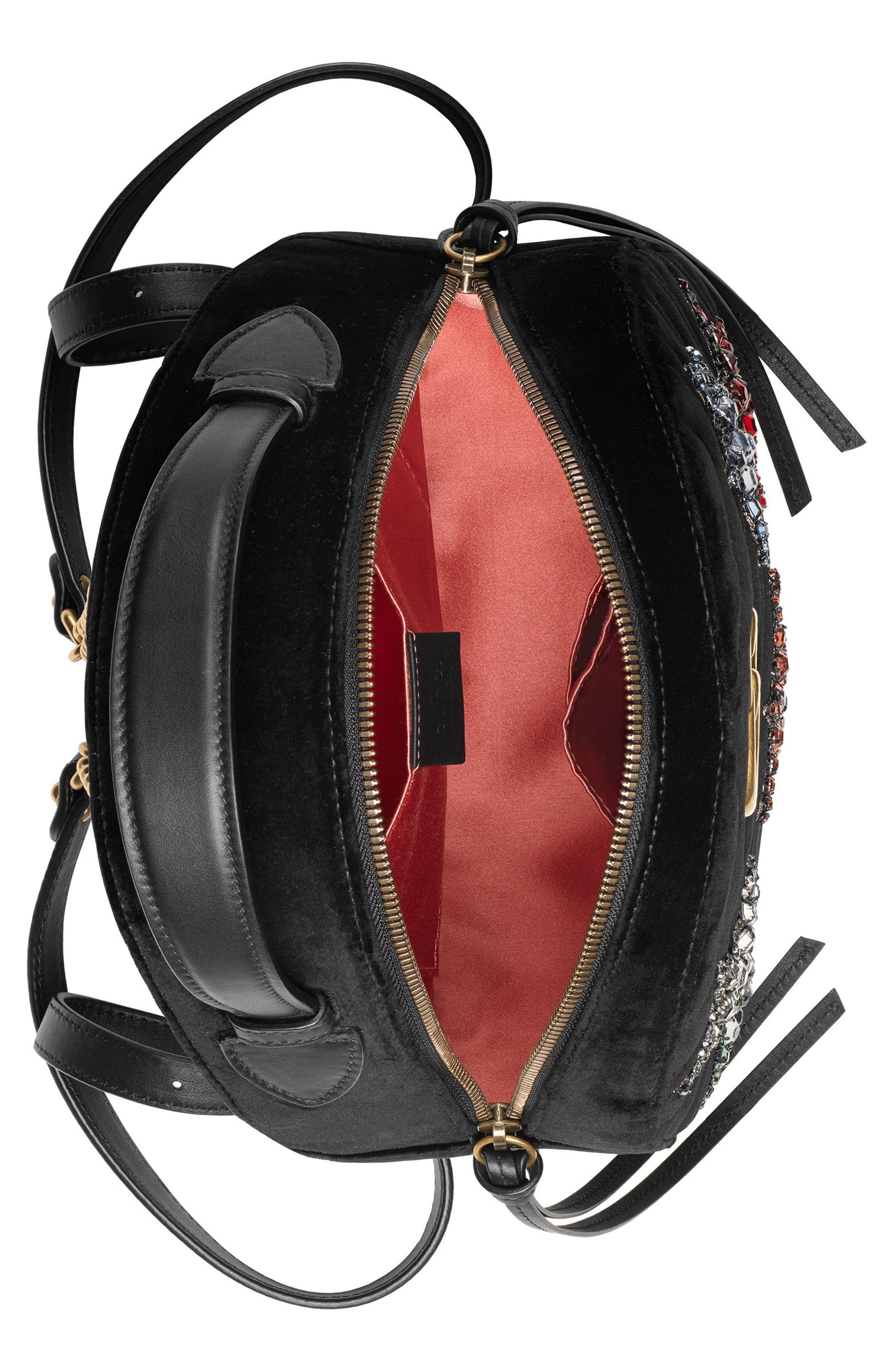 Marmont 2.0 Crystal Stars Velvet Backpack,                             Alternate thumbnail 2, color,                             NERO/ NERO MULTI