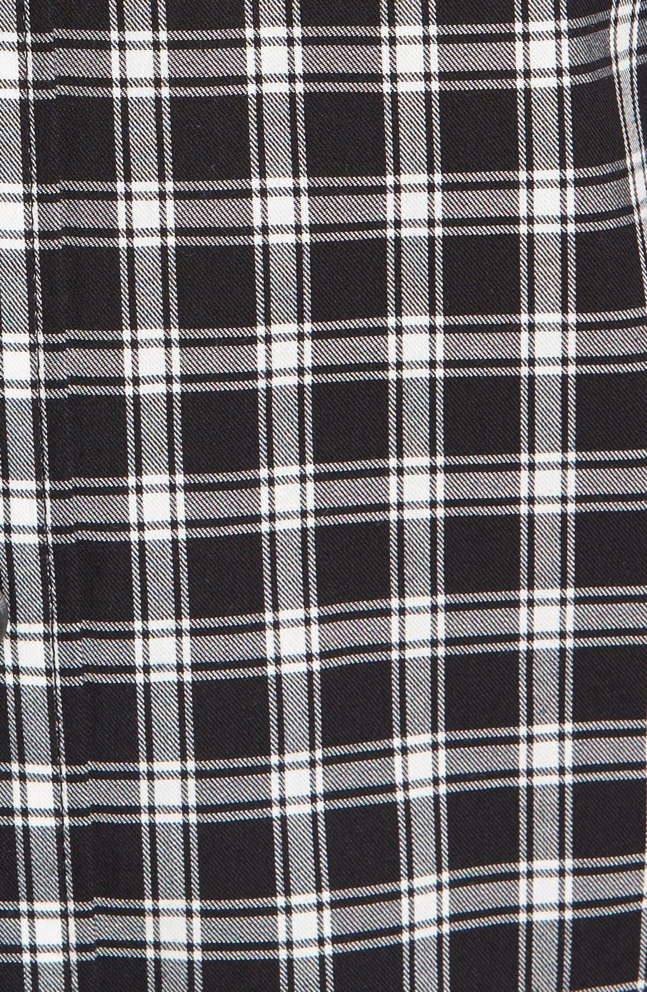 Everett Check Sport Shirt,                             Alternate thumbnail 5, color,                             001