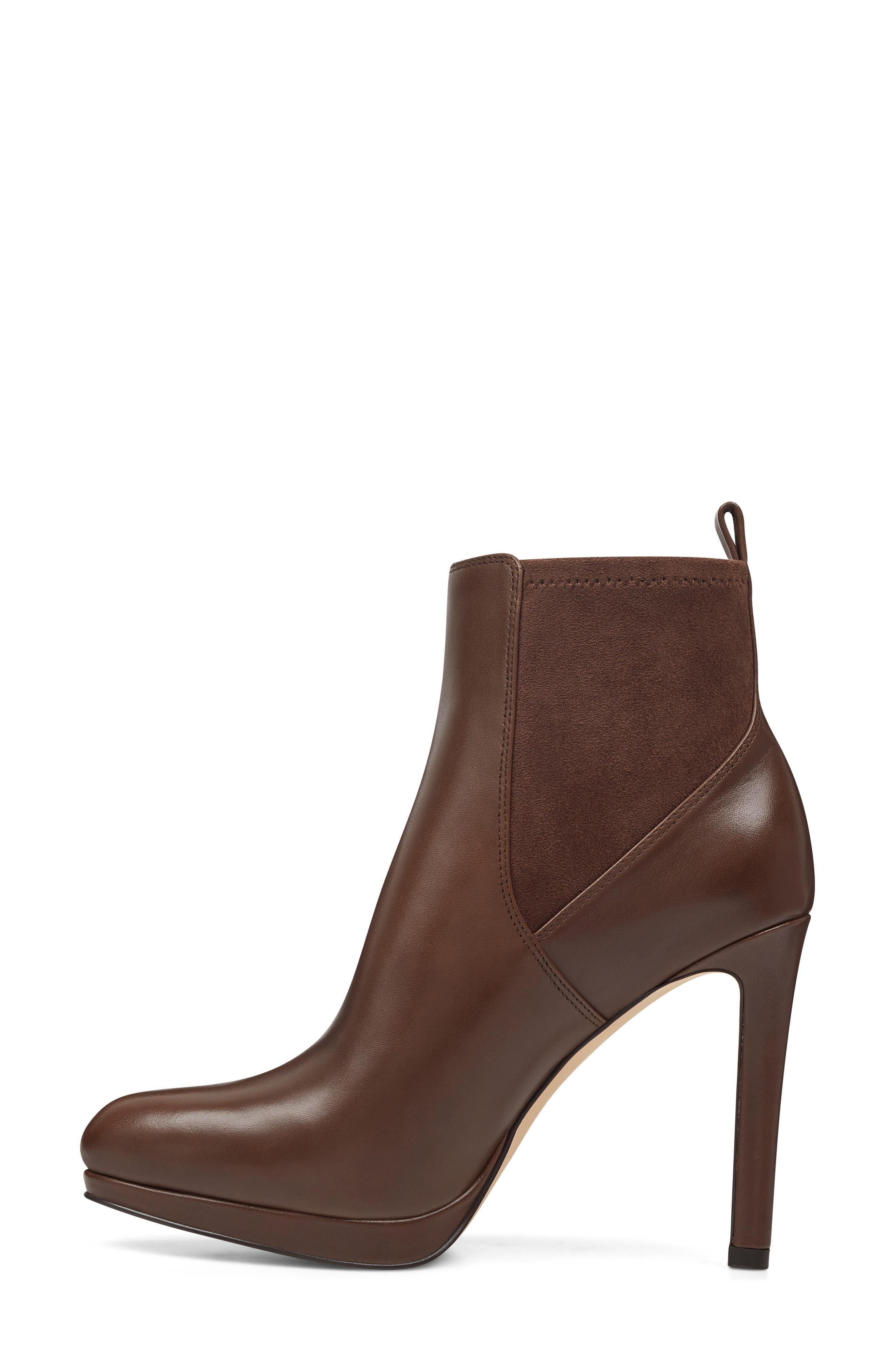 Quillen Stretch Bootie,                             Alternate thumbnail 8, color,                             BROWN LEATHER
