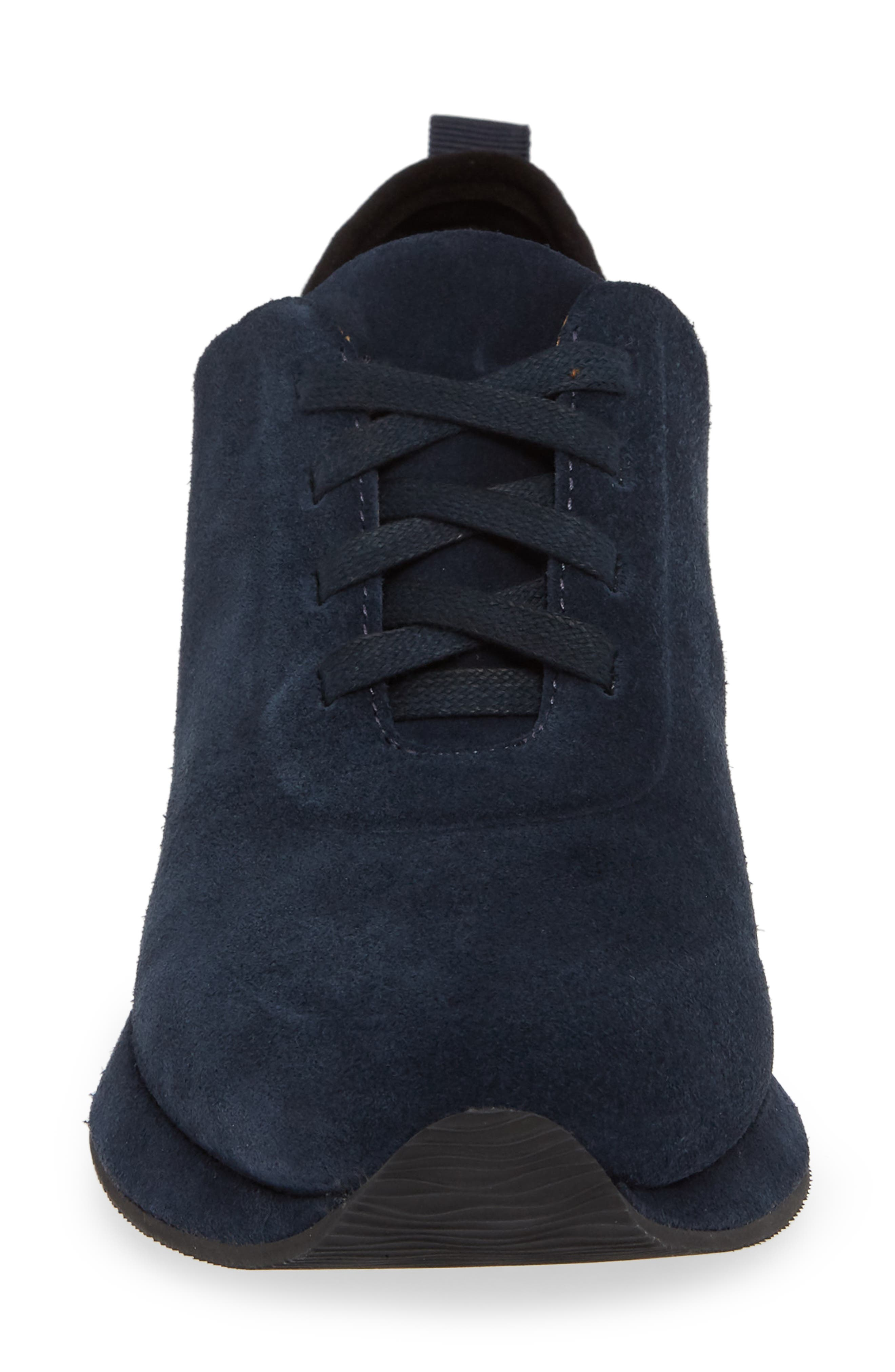 SUDINI,                             Mabel Sneaker,                             Alternate thumbnail 4, color,                             NAVY SUEDE