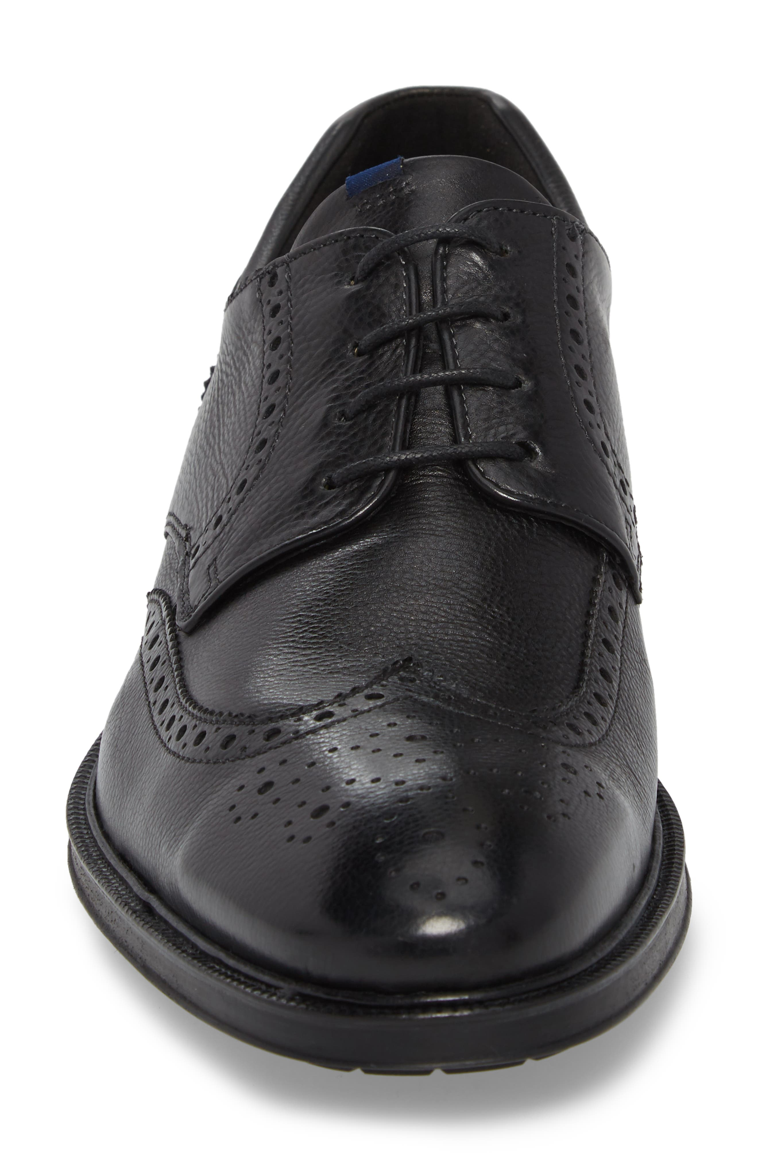 Marian Wingtip,                             Alternate thumbnail 4, color,                             BLACK LEATHER