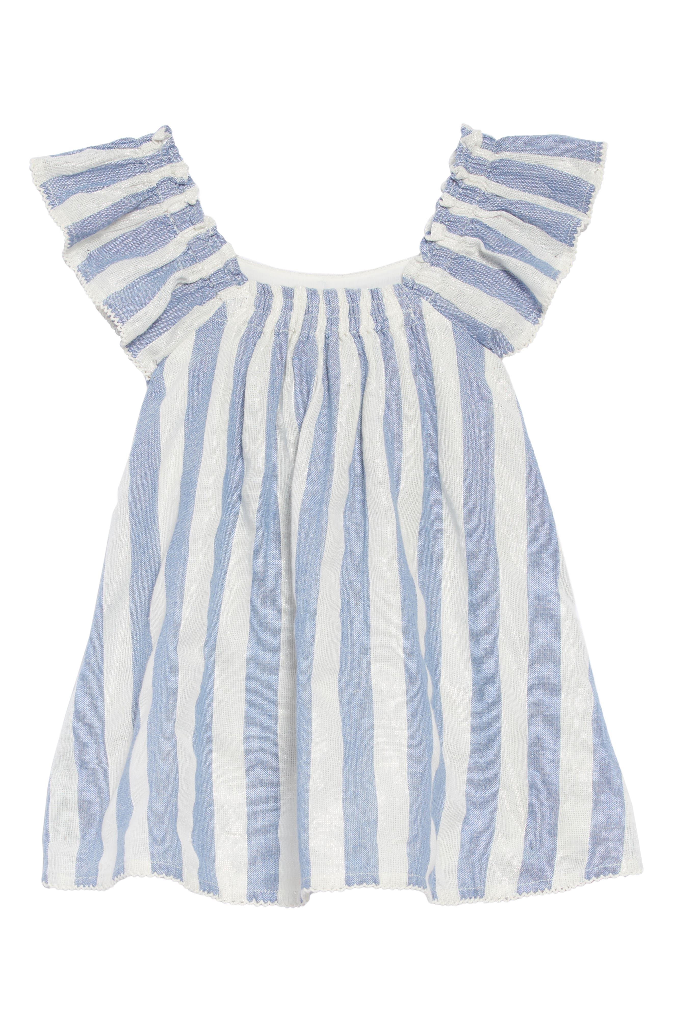 Chrissy Stripe Dress,                             Alternate thumbnail 2, color,                             BLUE