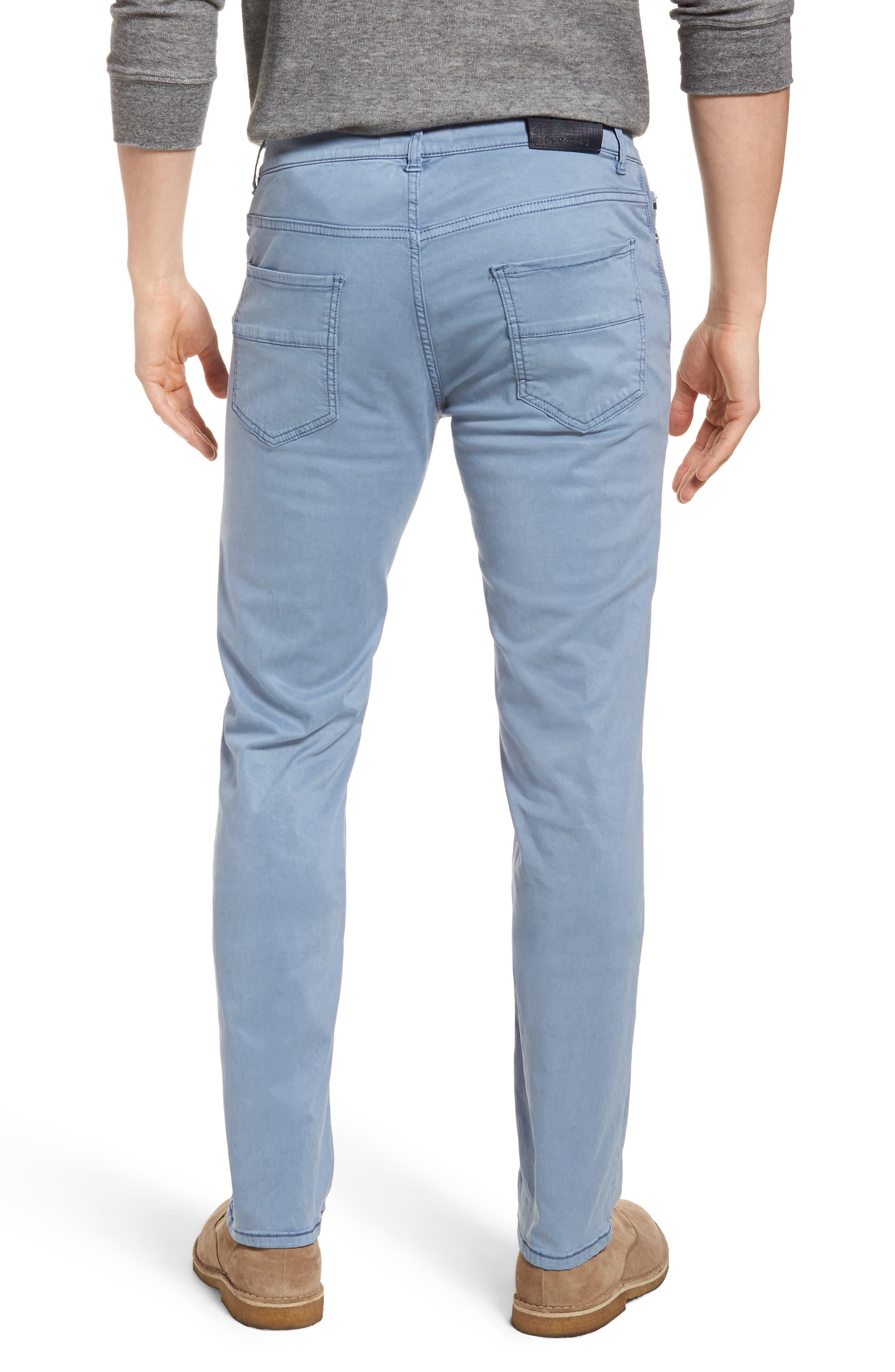 Slim Fit Washed Five-Pocket Pants,                             Alternate thumbnail 8, color,
