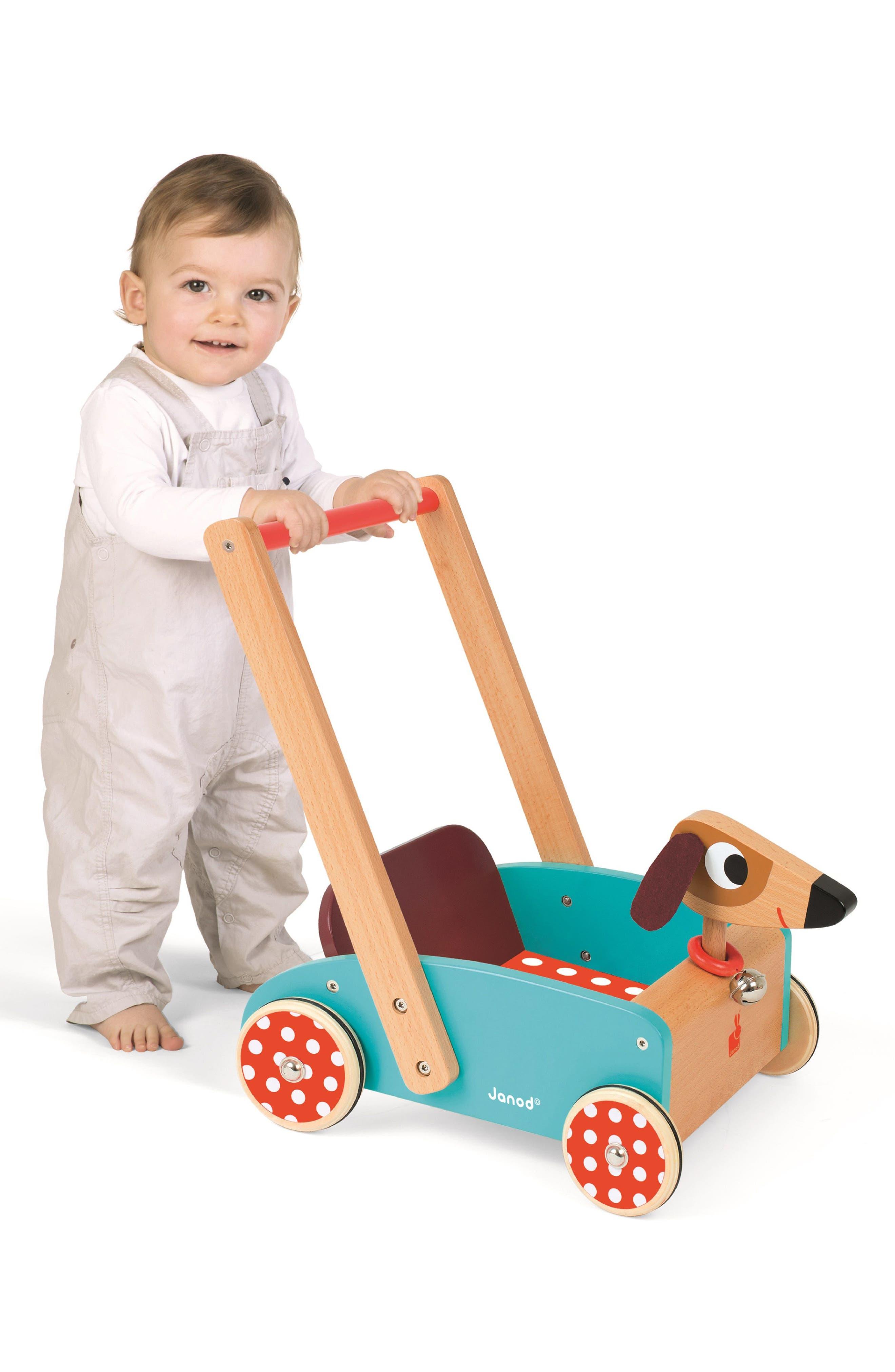 Wood Dog Cart,                             Alternate thumbnail 4, color,                             MULTI