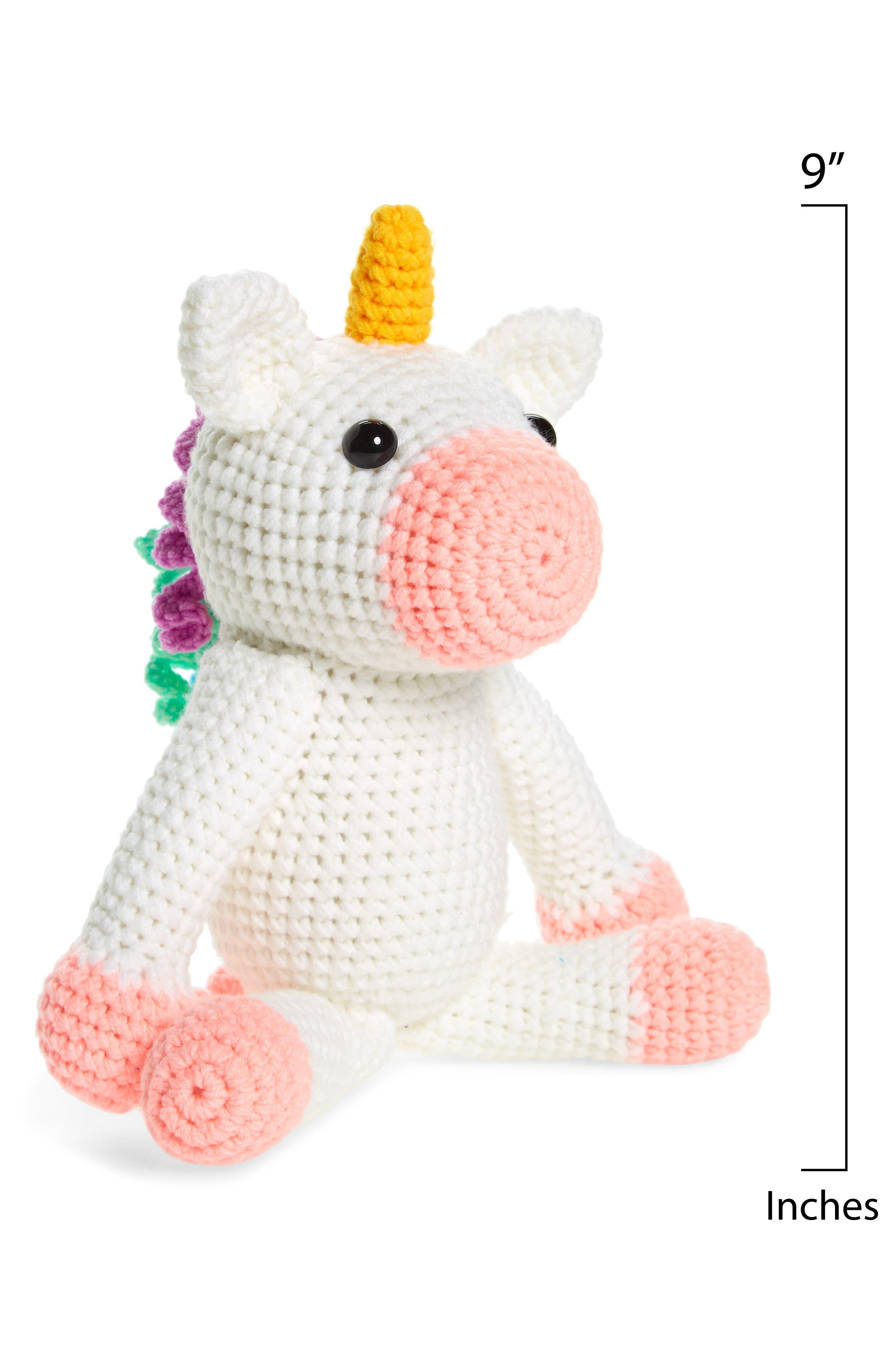 Twinks Crochet Unicorn Doll,                             Alternate thumbnail 2, color,                             WHITE/ MULTI