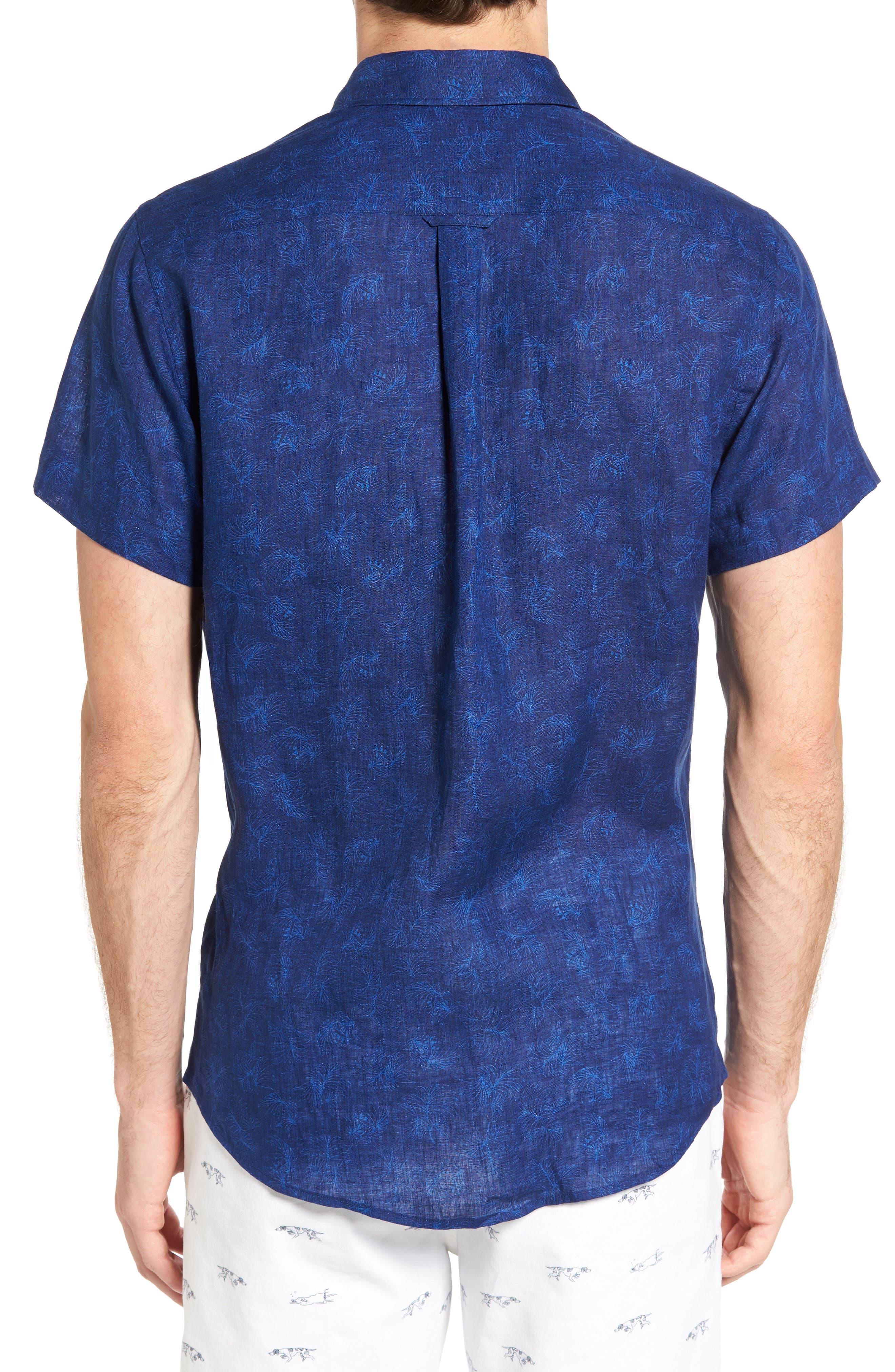 Hampton Downs Sports Fit Linen Sport Shirt,                             Alternate thumbnail 2, color,                             423