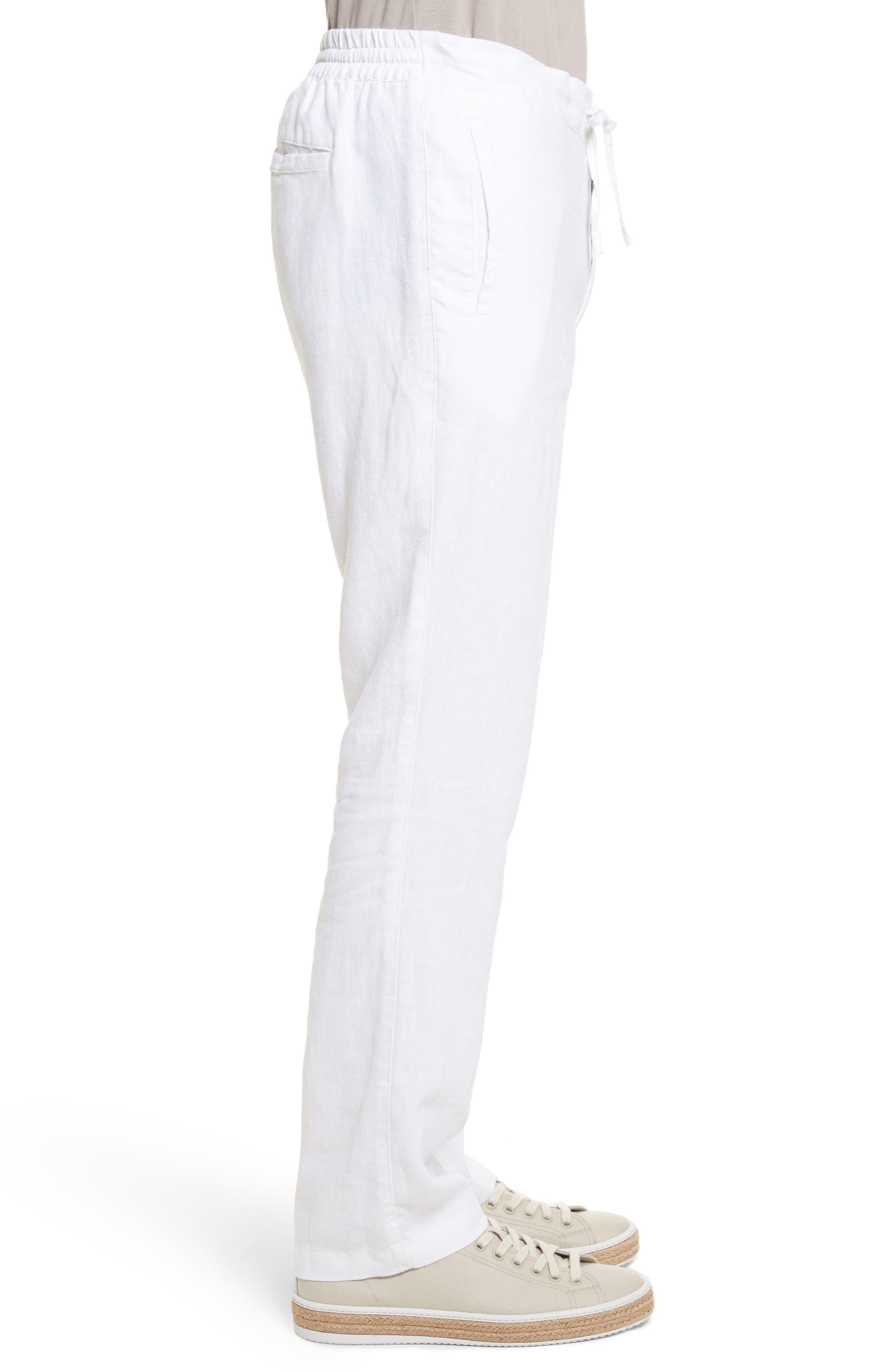 Collin Linen Pants,                             Alternate thumbnail 3, color,                             100