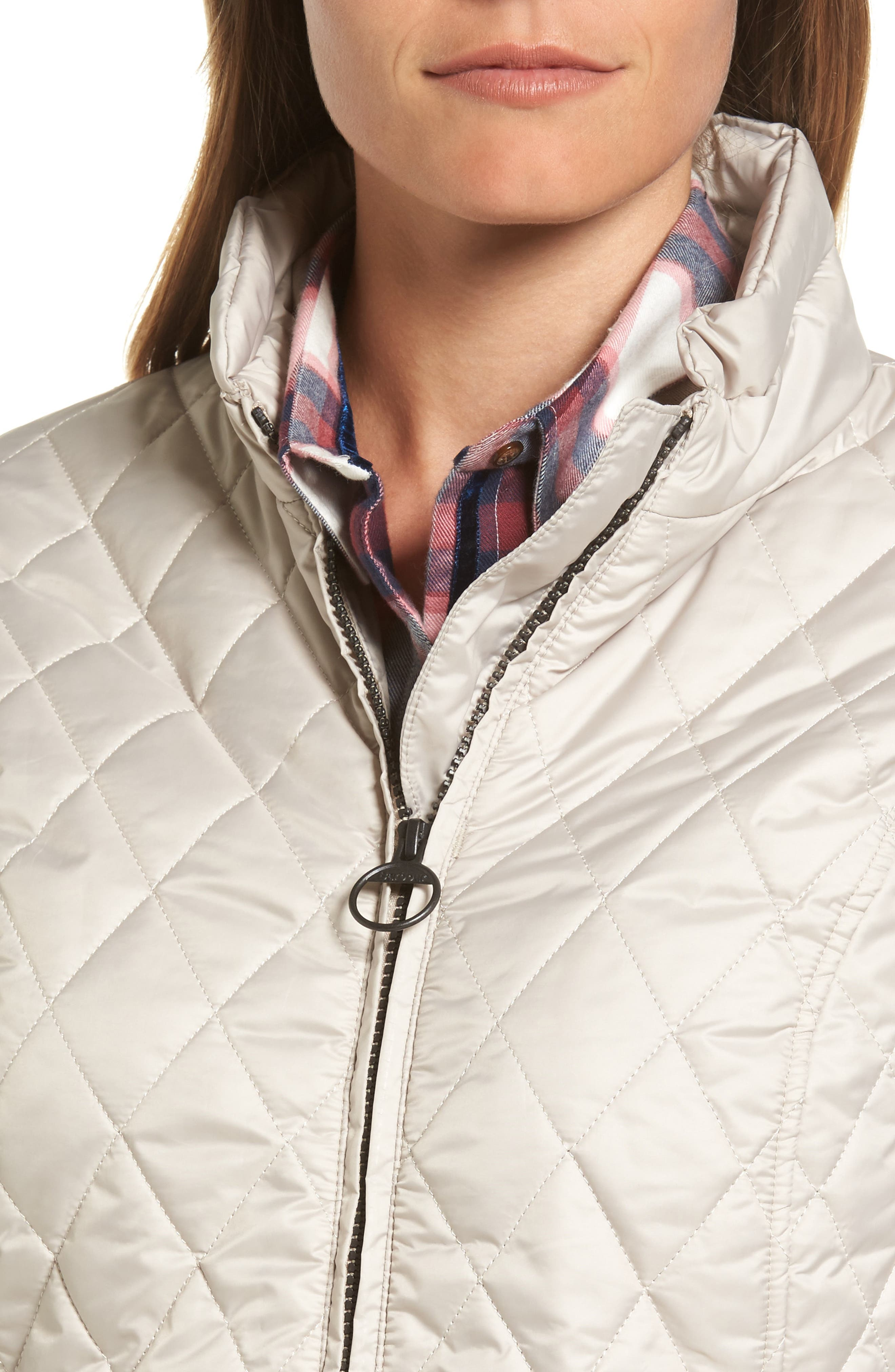 Water Resistant Quilted Jacket,                             Alternate thumbnail 7, color,