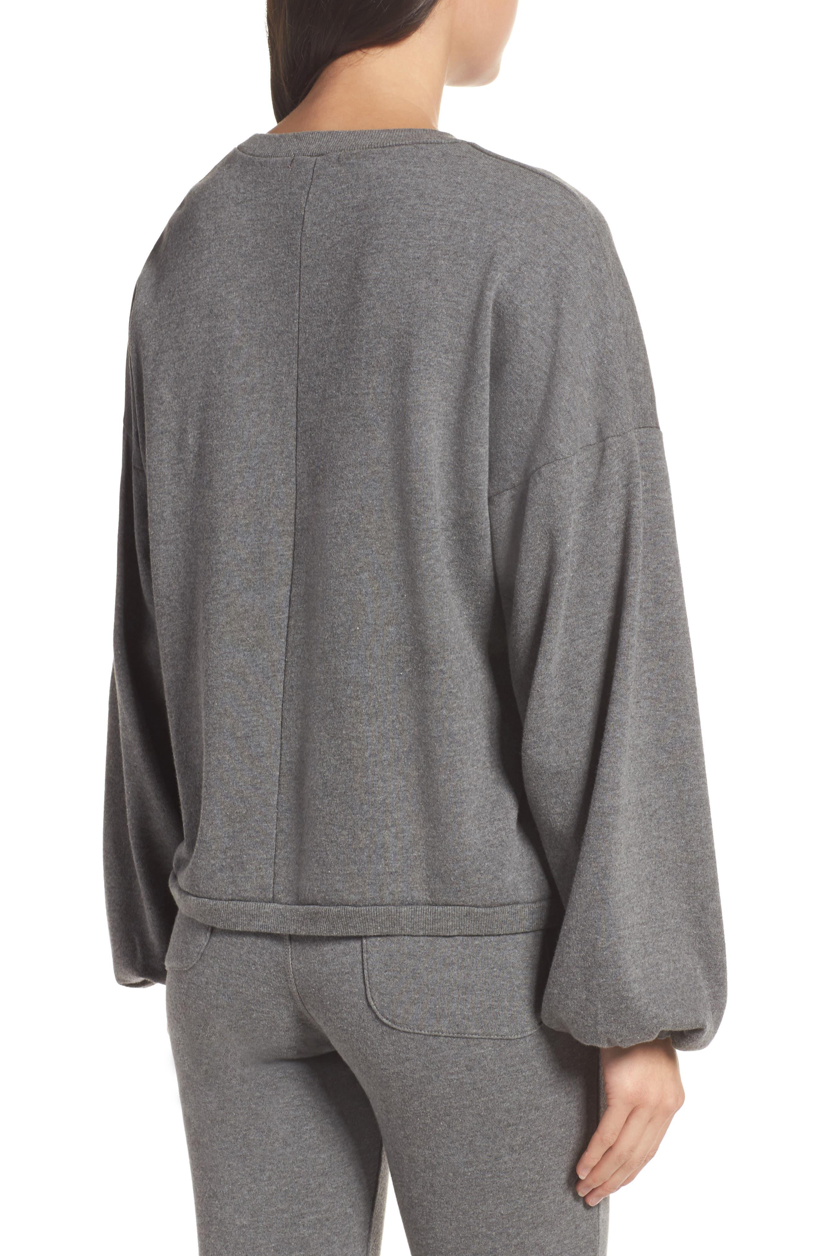 Puff Sleeve Sweatshirt,                             Alternate thumbnail 2, color,                             020