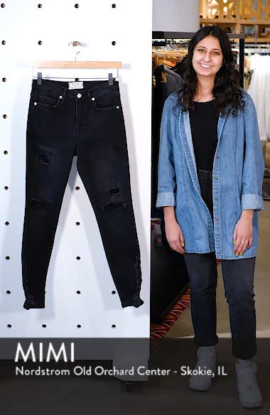 About a Girl Ripped High Waist Crop Skinny Jeans, sales video thumbnail