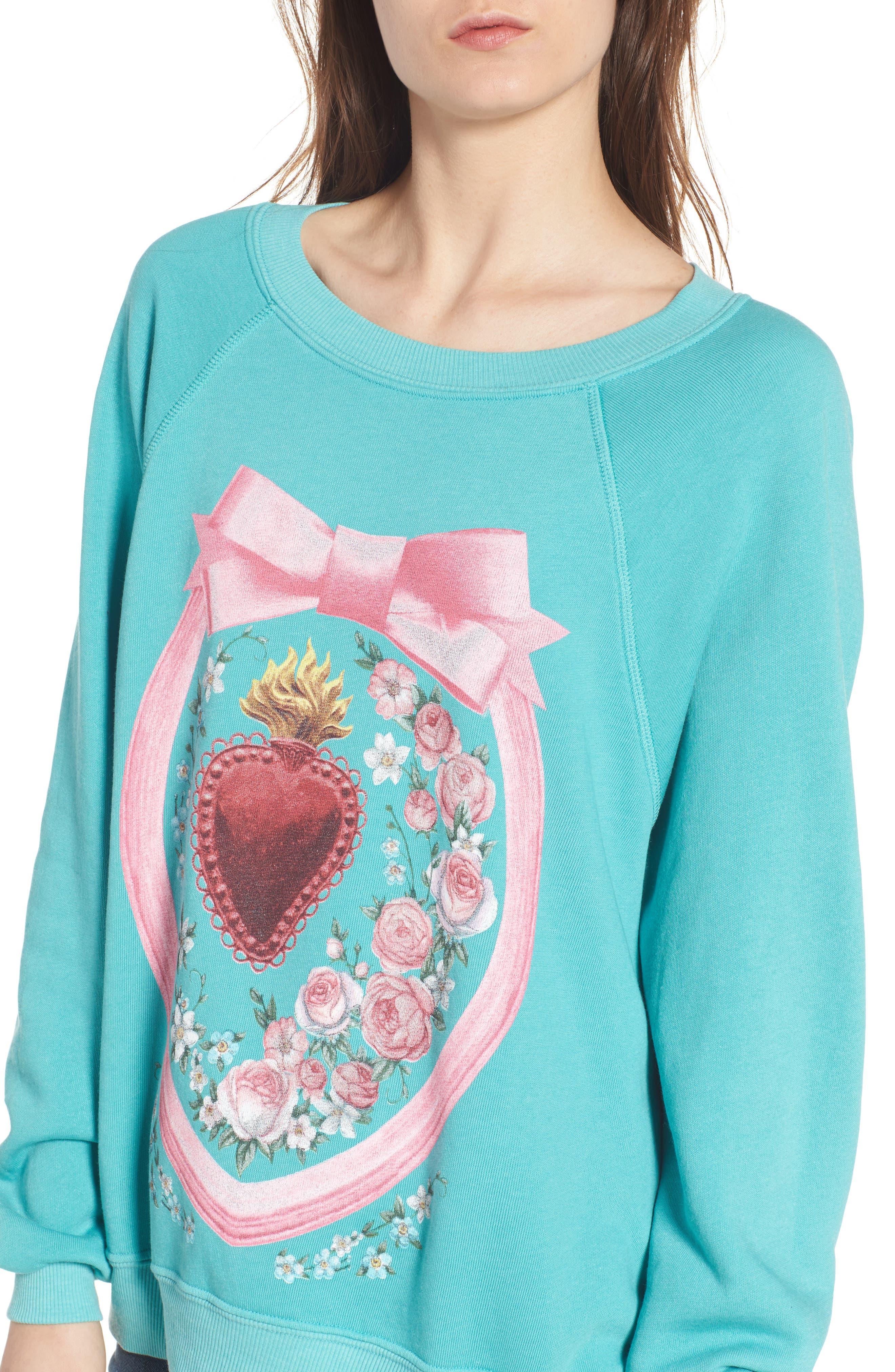 Heirlooms Sommers Sweatshirt,                             Alternate thumbnail 4, color,                             440