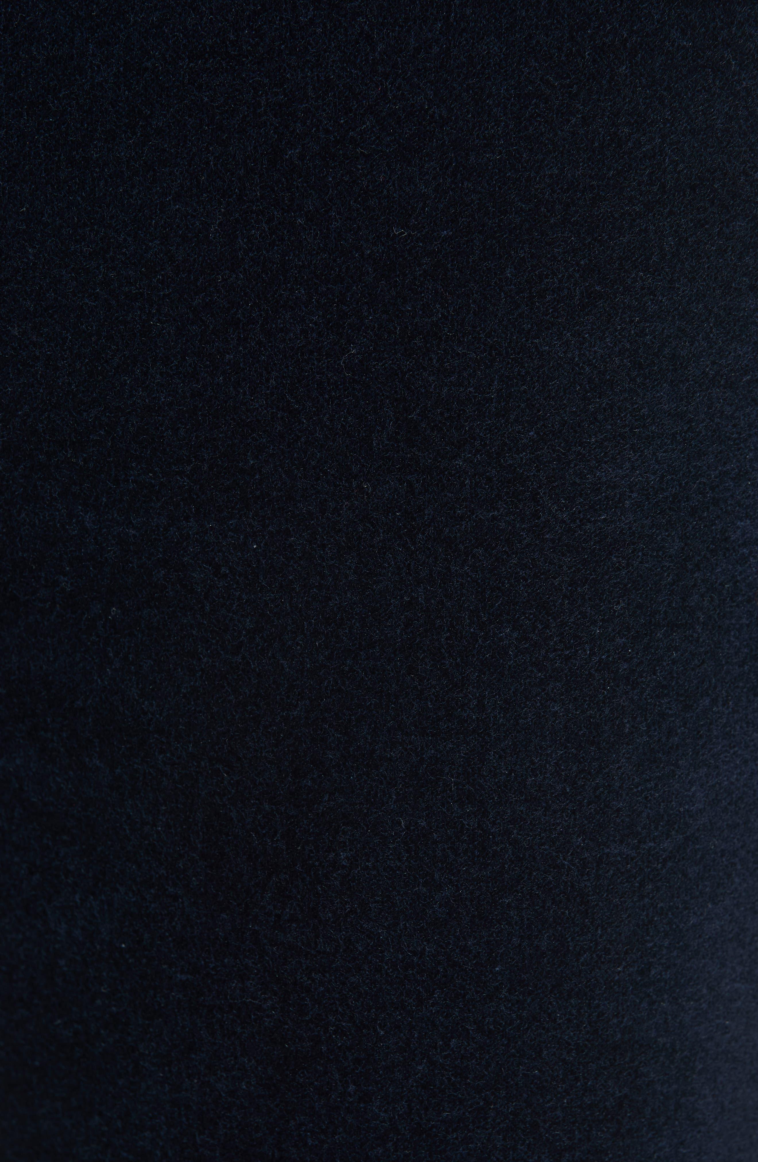 Dojo High Waist Velvet Crop Skinny Pants,                             Alternate thumbnail 5, color,                             NAVY
