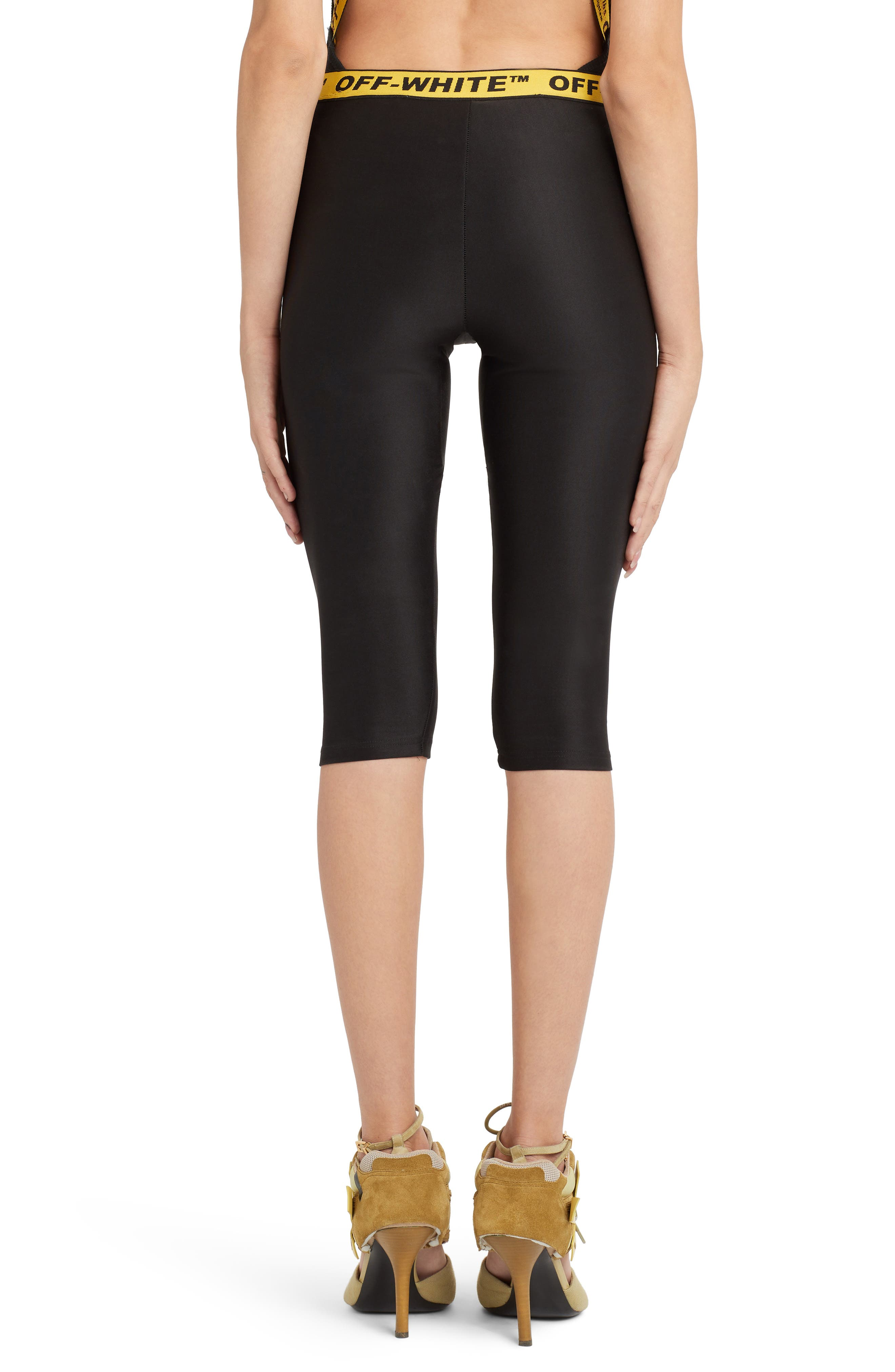 OFF-WHITE,                             Industrial Jogging Crop Pants,                             Alternate thumbnail 2, color,                             BLACK