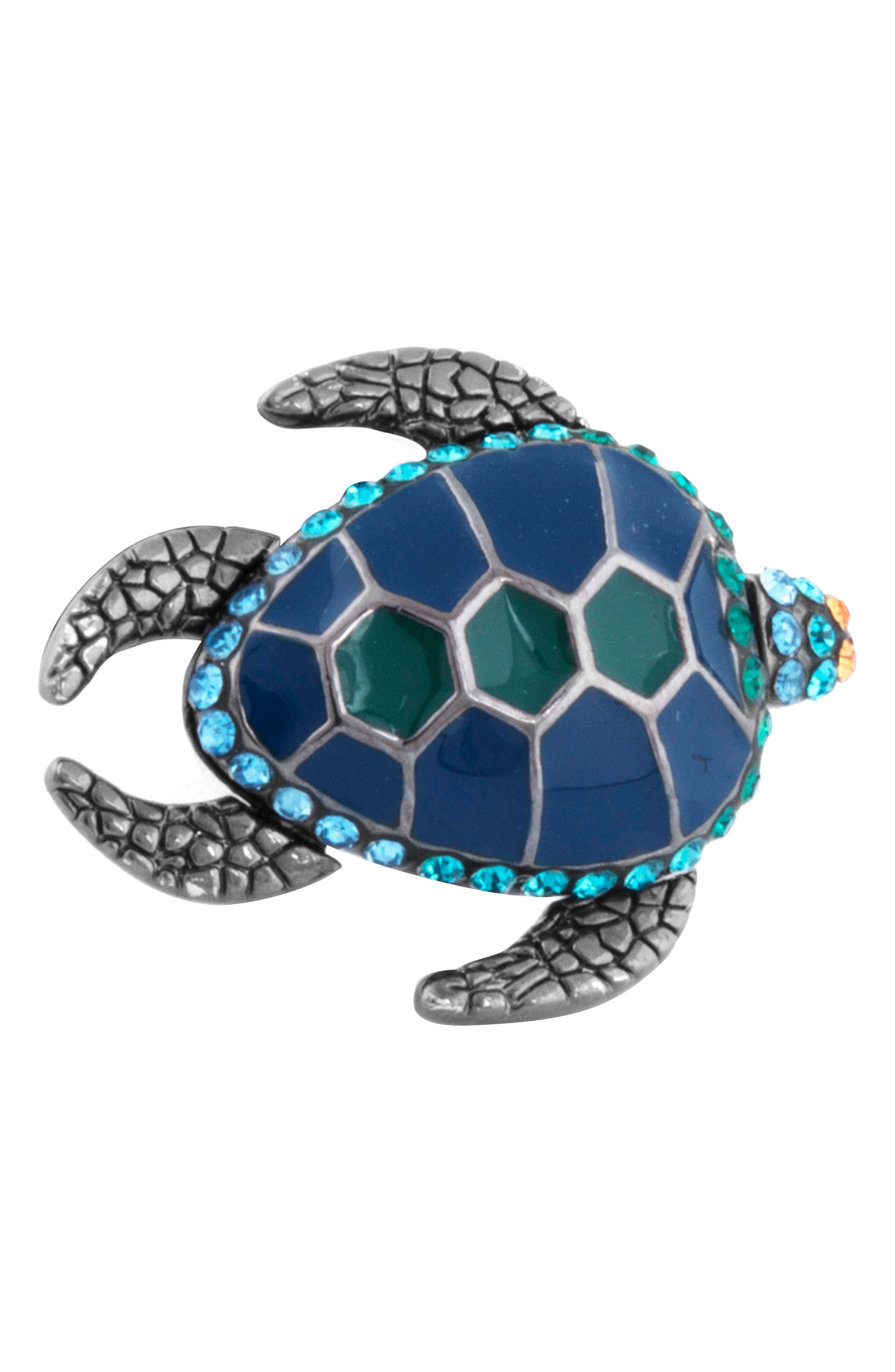 Mechanimal Turtle Pin,                             Main thumbnail 1, color,                             BLUE