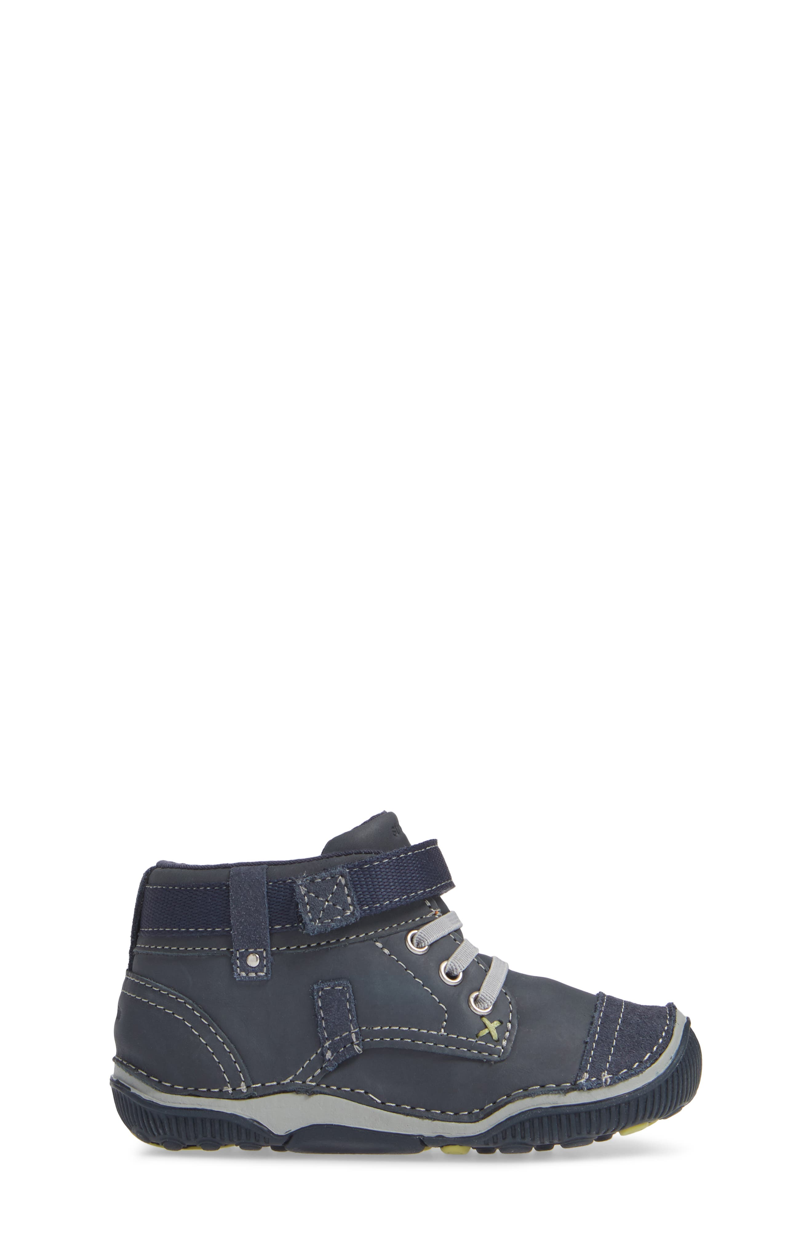 'Garrett' High Top Bootie Sneaker,                             Alternate thumbnail 3, color,                             NAVY