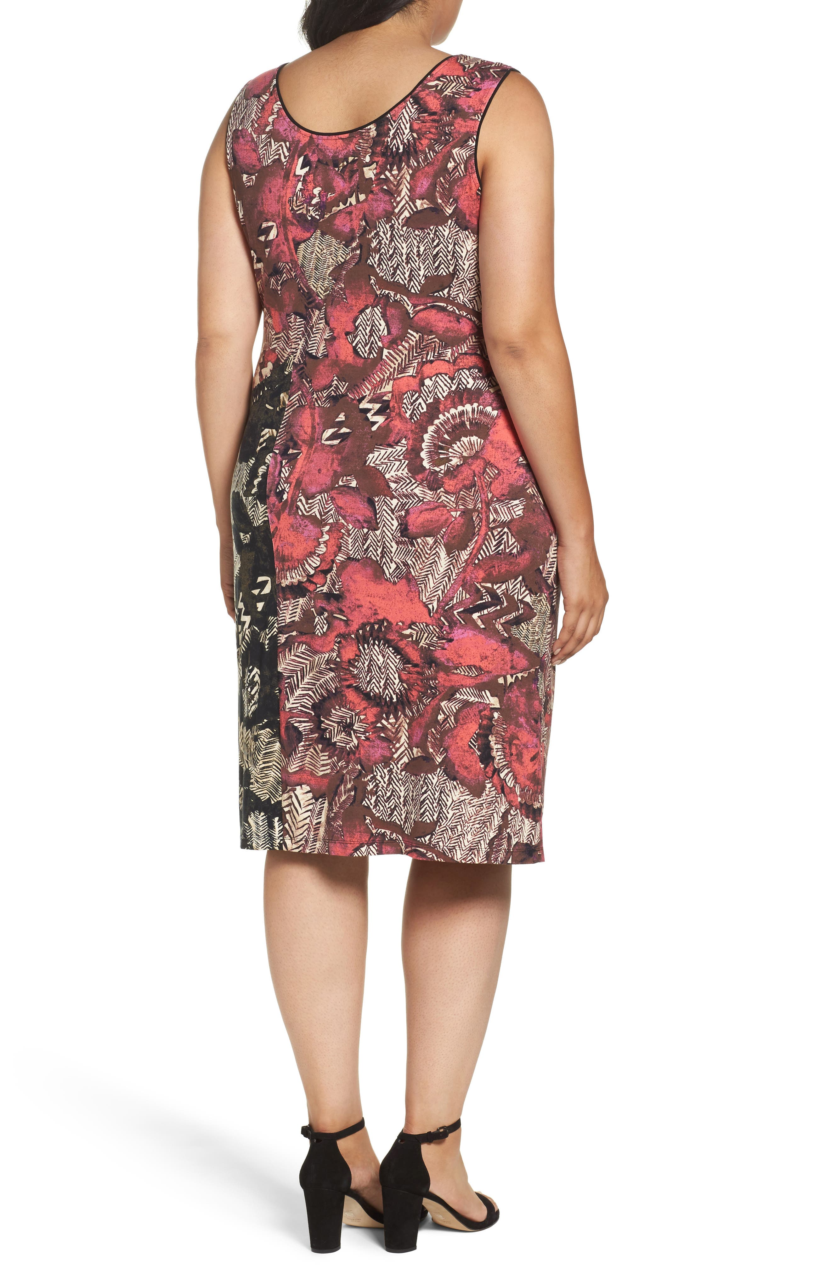 Etched Floral Dress,                             Alternate thumbnail 2, color,                             MULTI