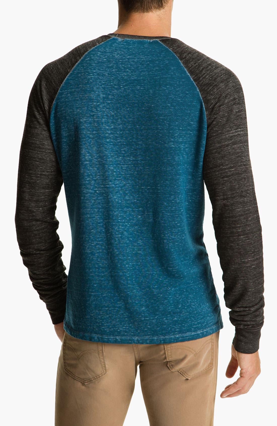 Washed Raglan Sleeve Sweatshirt,                             Alternate thumbnail 14, color,
