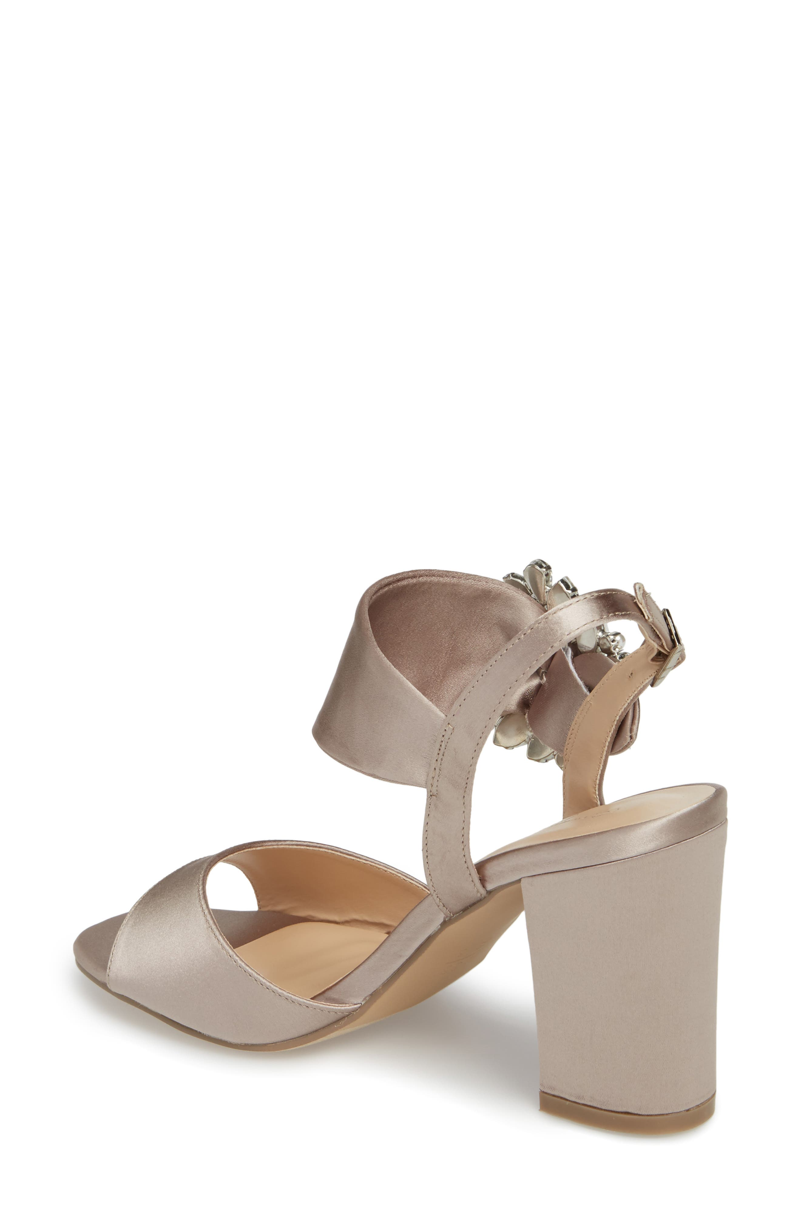 Manhattan Embellished Sandal,                             Alternate thumbnail 2, color,                             TAUPE SATIN