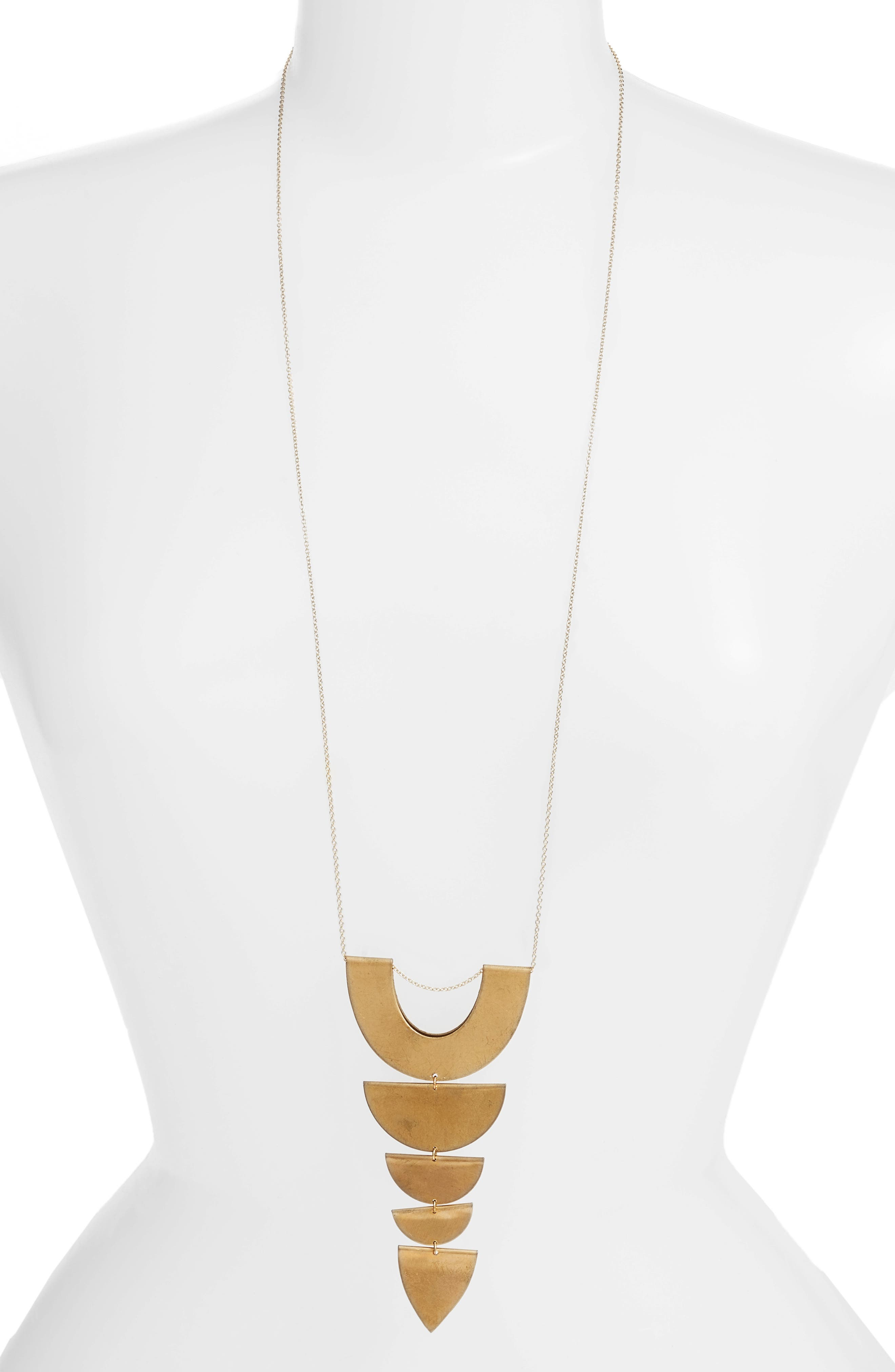 Tiered Pendant Necklace,                         Main,                         color, 710