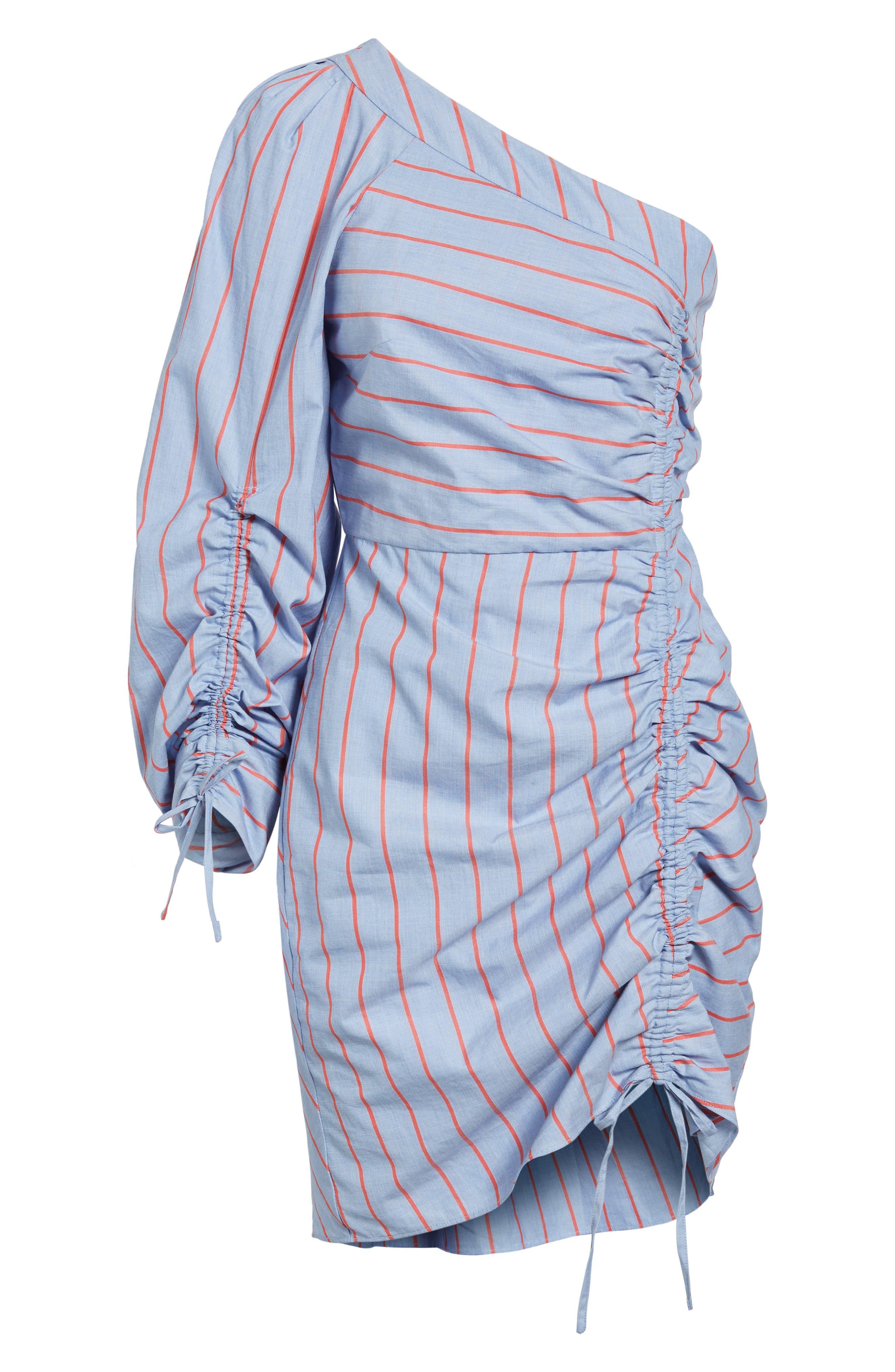 Harmond One-Shoulder Dress,                             Alternate thumbnail 6, color,                             421