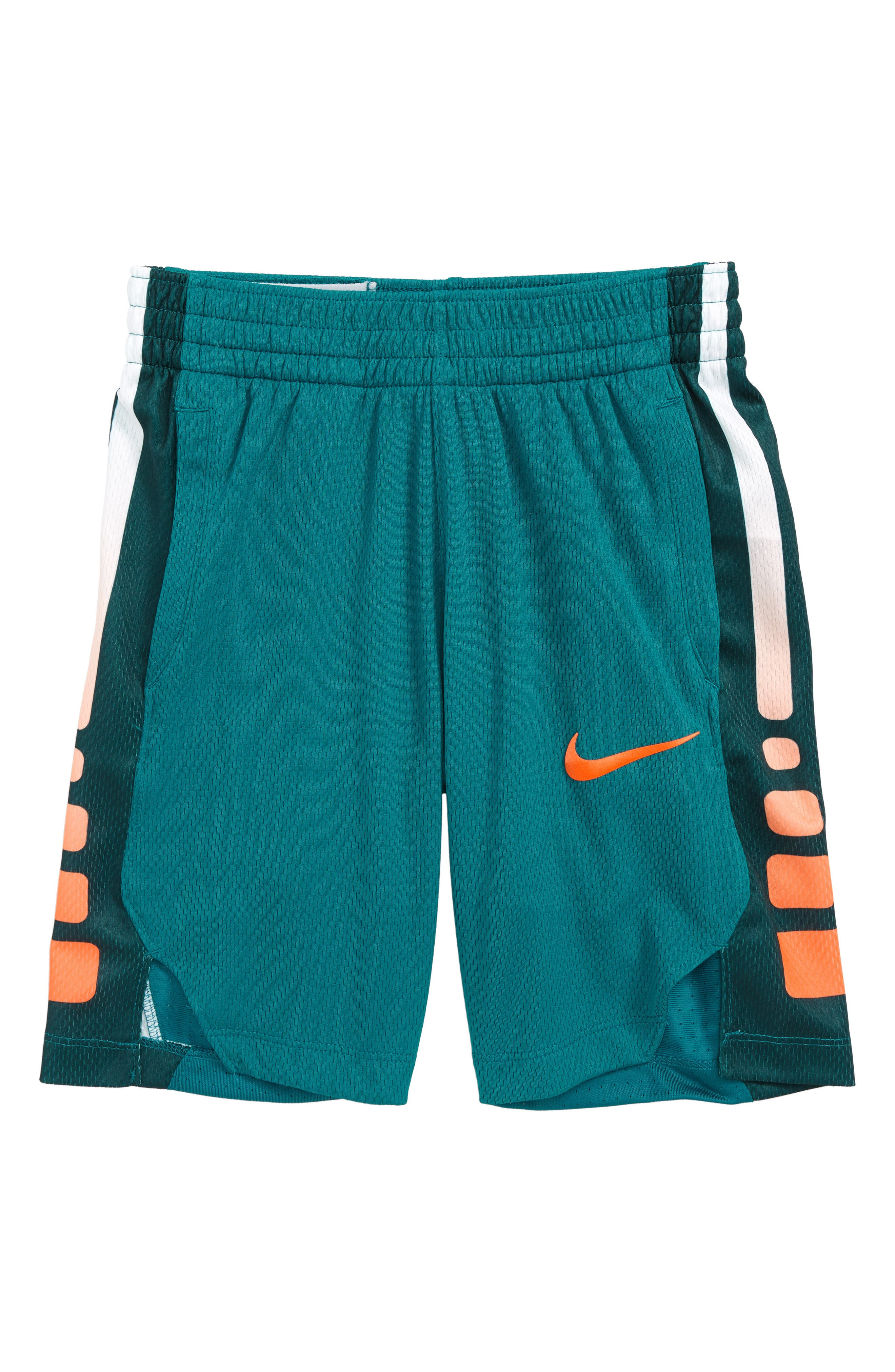Dry Elite Basketball Shorts,                             Main thumbnail 1, color,                             GEODE TEAL/ CONE